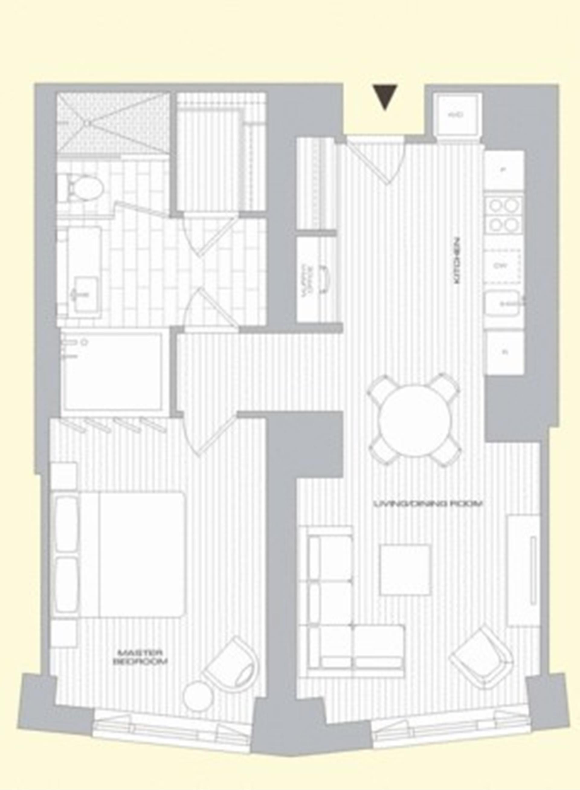 Floor plan of 15 William, 15 William Street, 18C - Financial District, New York