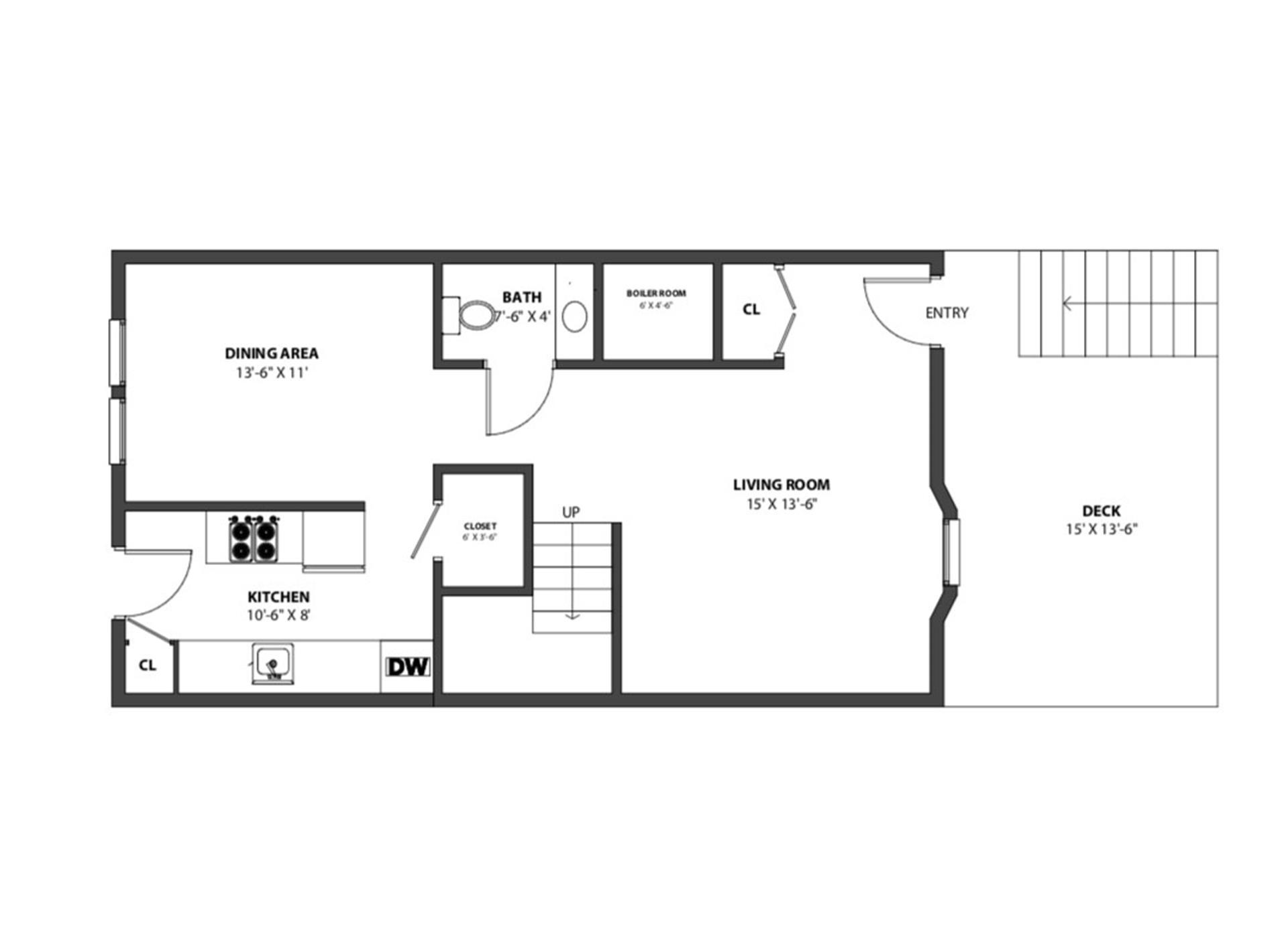 Floor plan of 577 Cauldwell Avenue - Mott Haven, New York