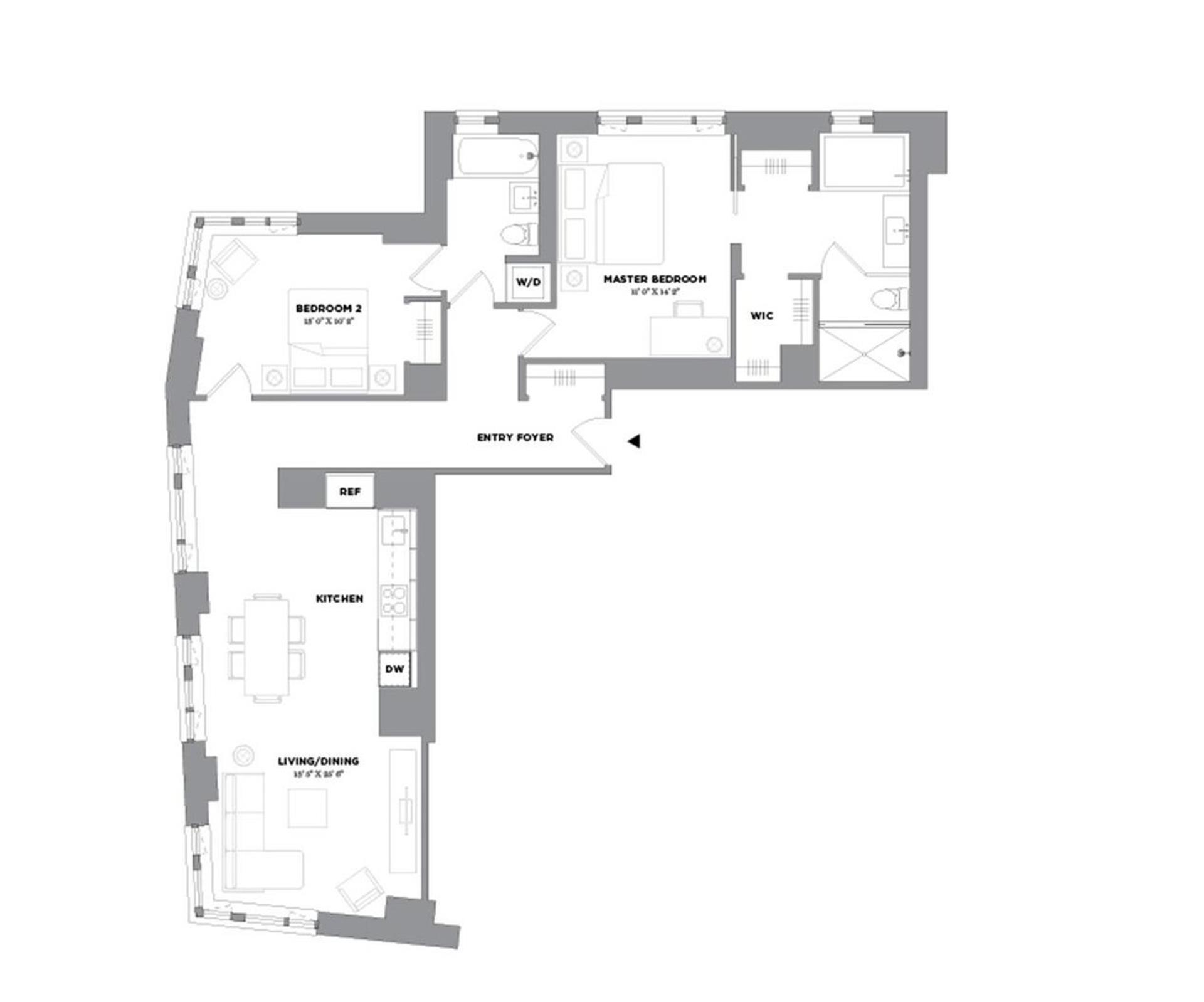 Floor plan of 15 William, 15 William Street, 30A - Financial District, New York