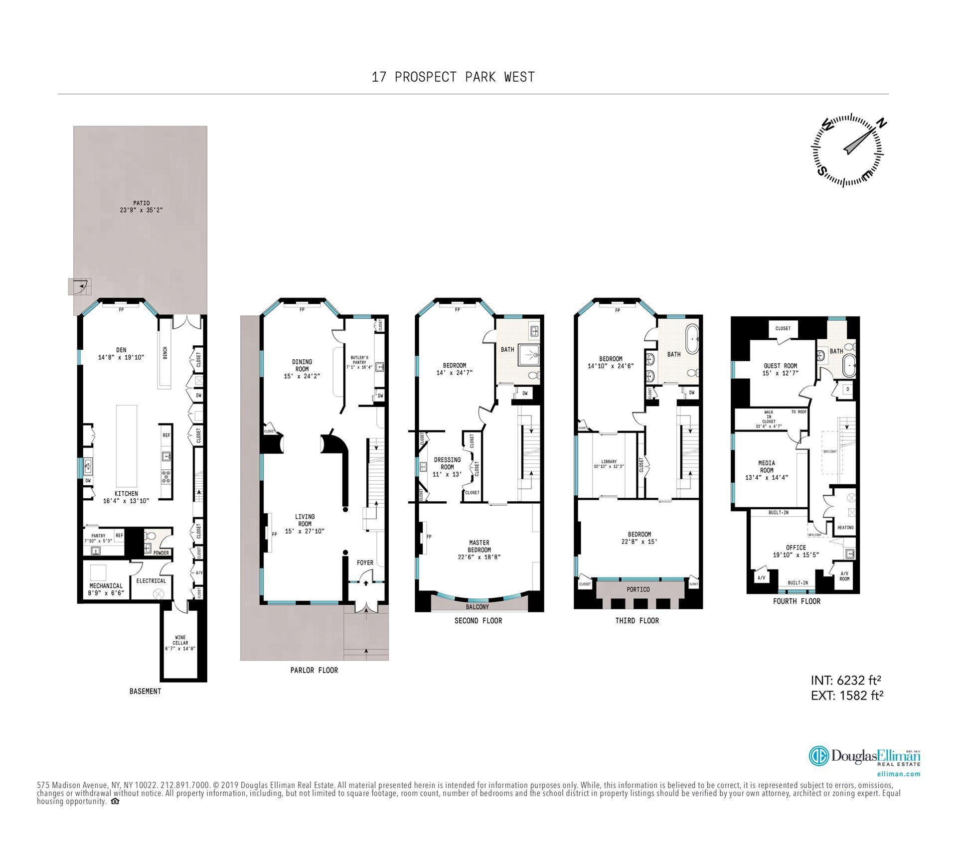 Floor plan of 17 Prospect Park West - Park Slope, New York