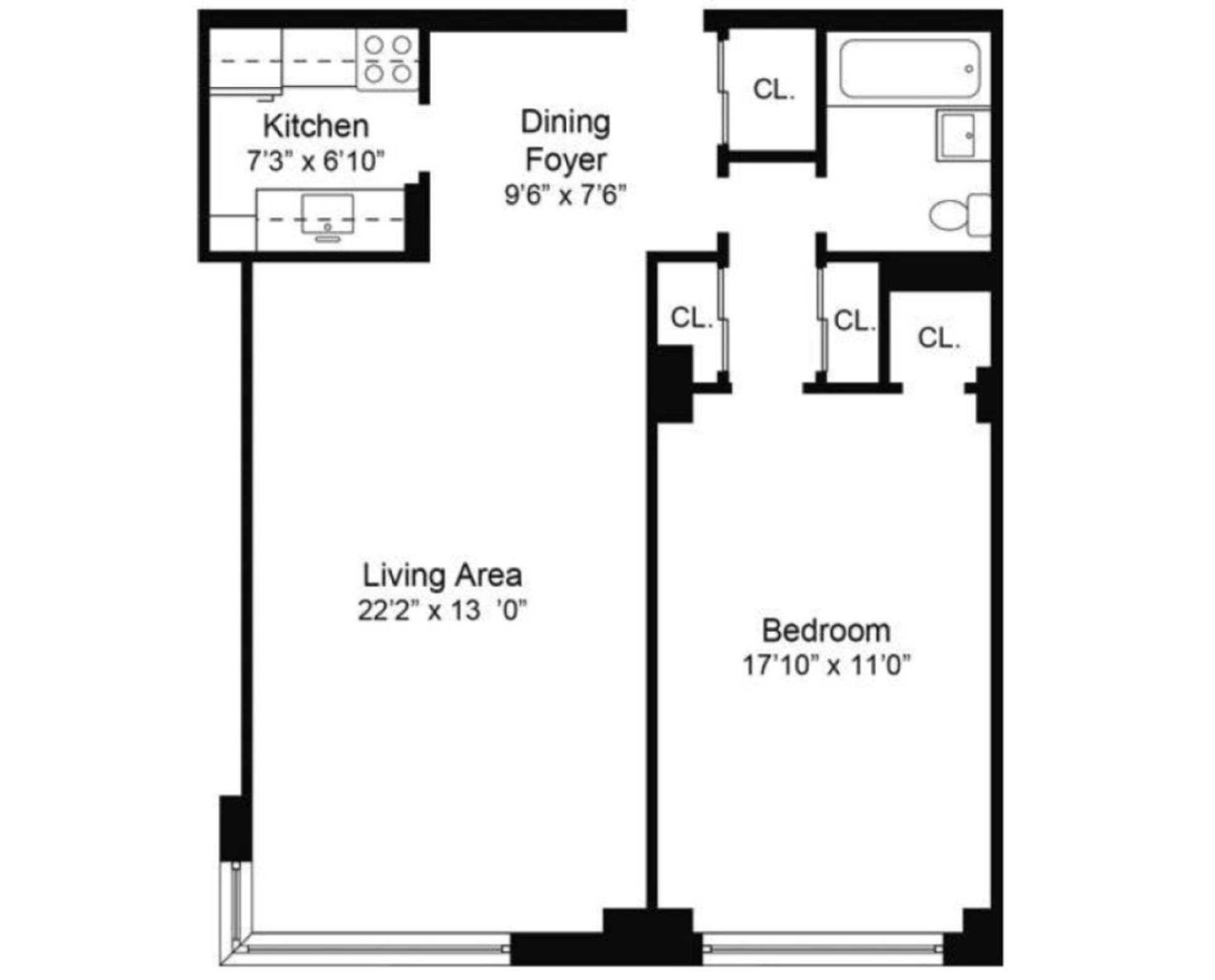 Floor plan of 55 East End Avenue, 16E - Upper East Side, New York