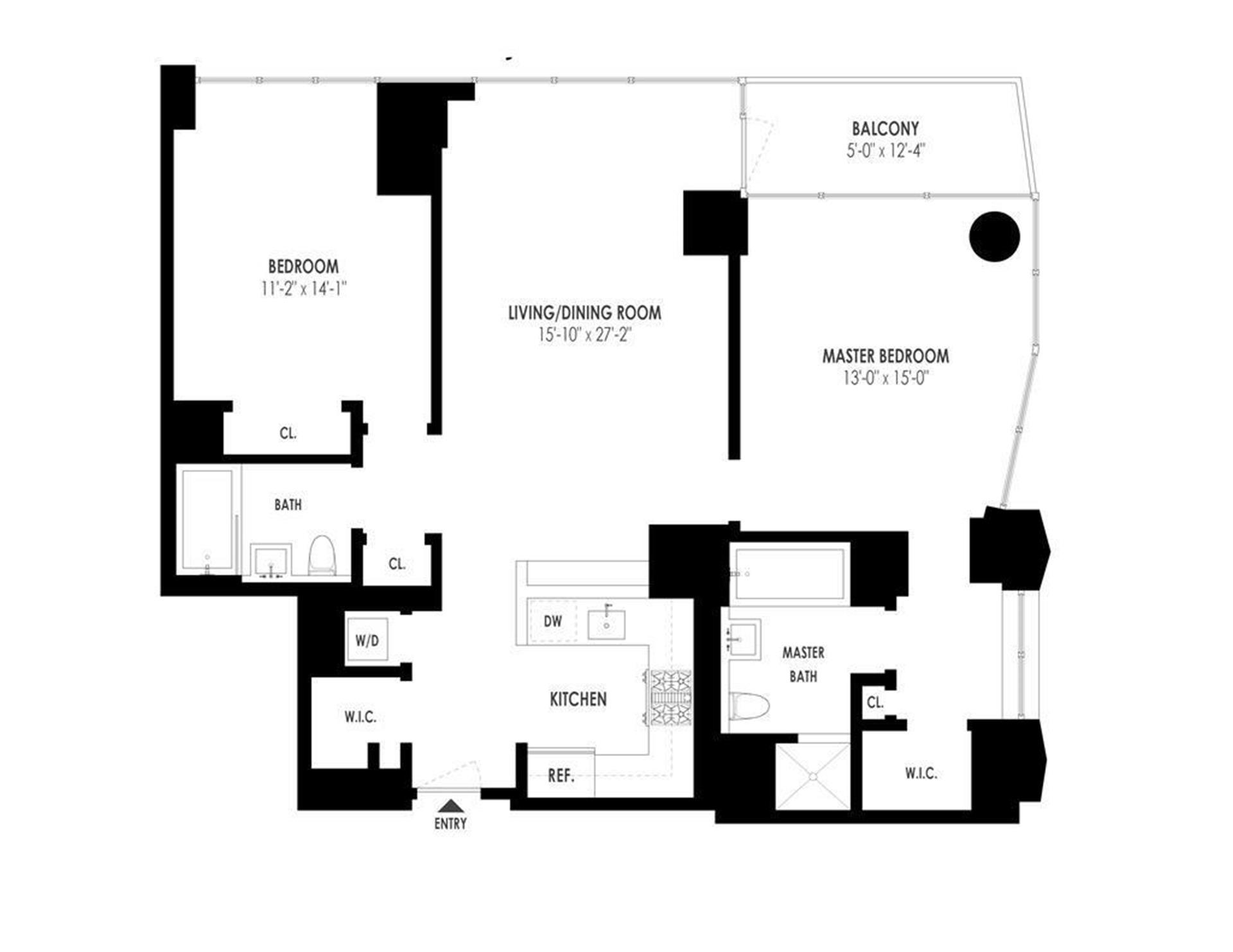 Floor plan of 101 West 24th St, 8E - Chelsea, New York