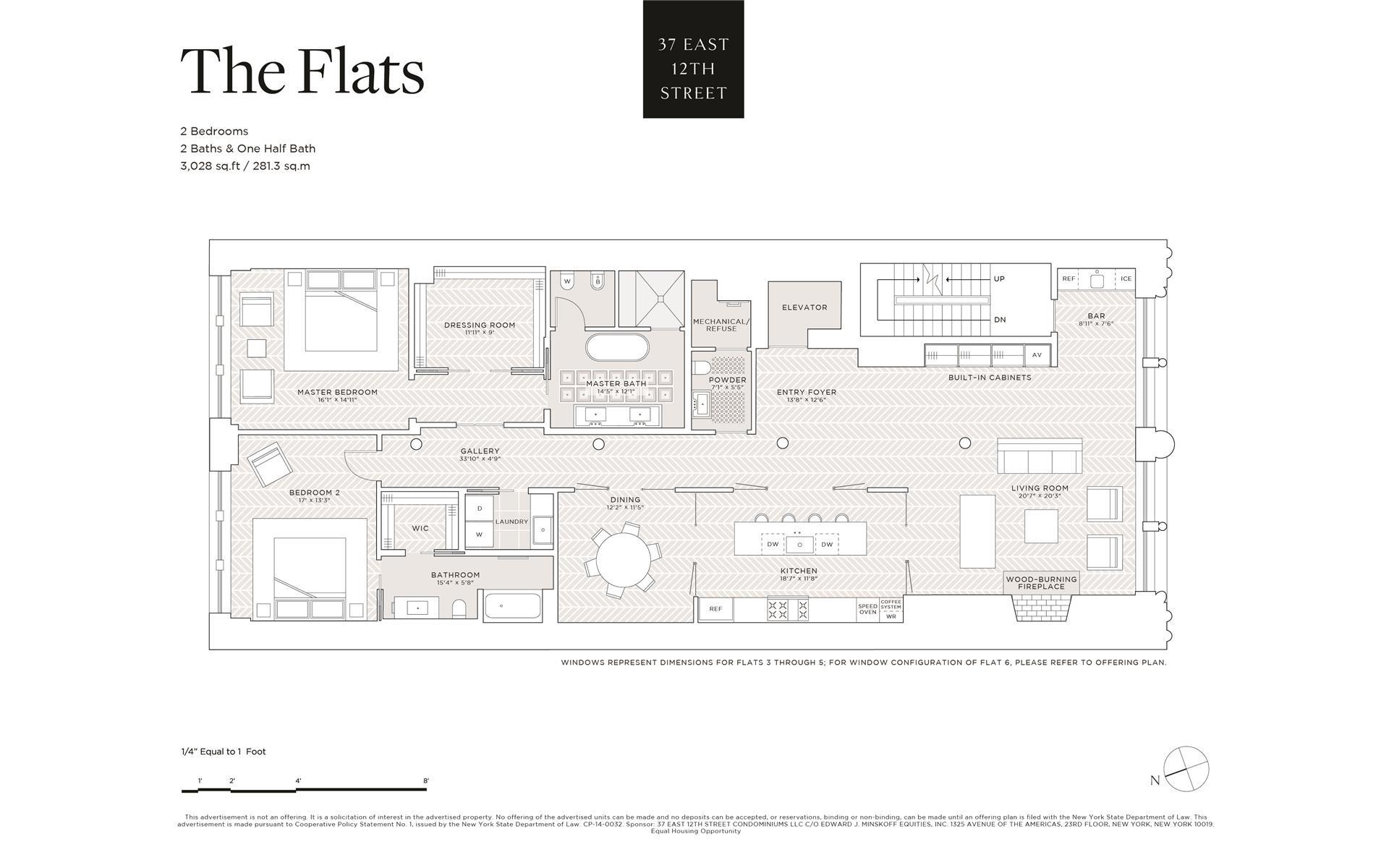 Floor plan of 37 East 12th St, 6 - Greenwich Village, New York