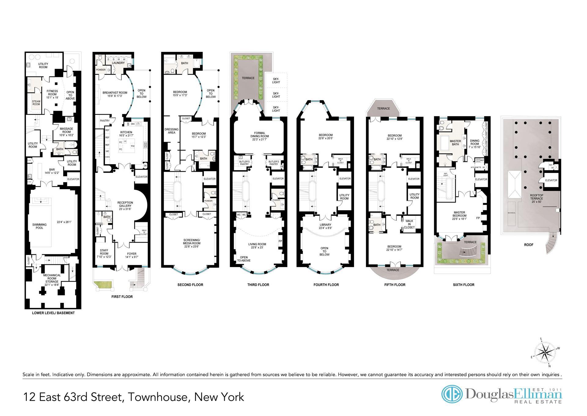 Floor plan of 12 East 63rd Street - Upper East Side, New York