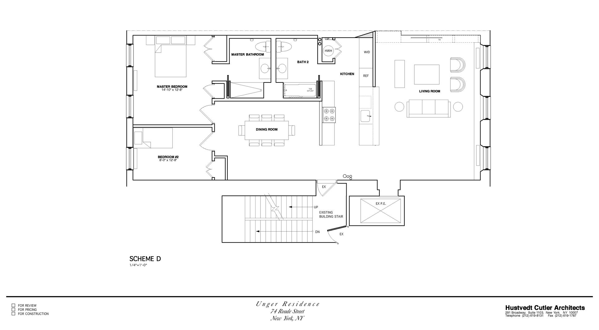 Floor plan of 74 Reade St, 4E - TriBeCa, New York