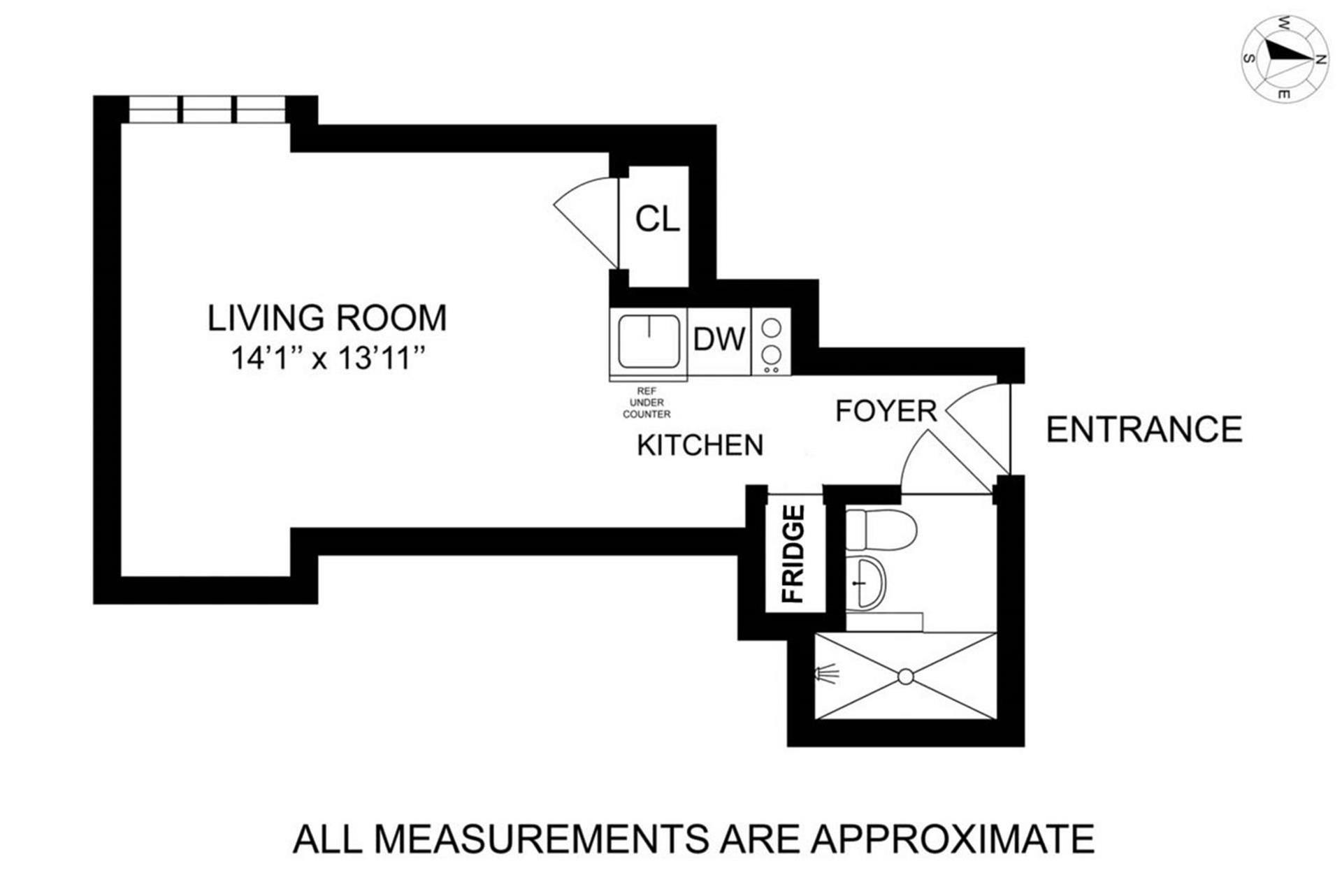 Floor plan of TUDOR TOWER, 25 Tudor City Pl, 807 - Murray Hill, New York
