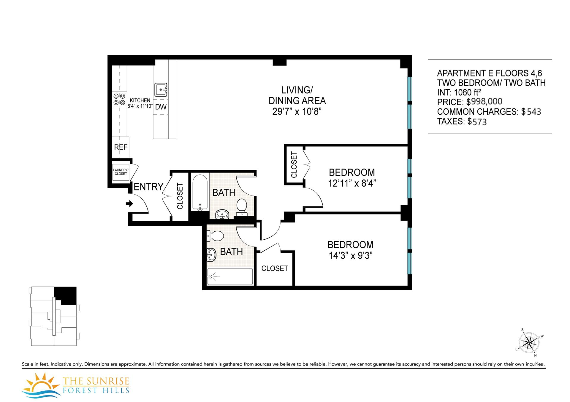 Floor plan of 109-19 72nd Rd, 6E - Forest Hills, New York