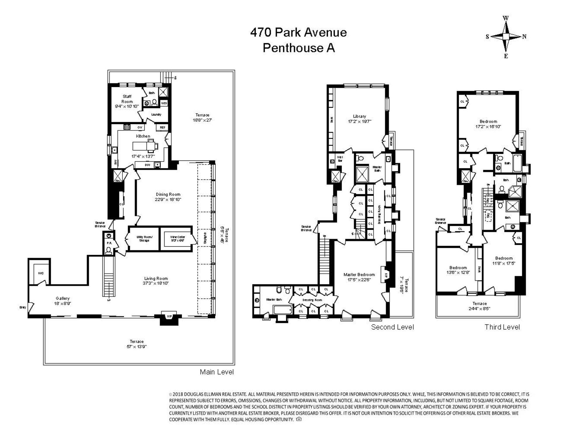 Floor plan of 470 Park Avenue, PHA - Upper East Side, New York