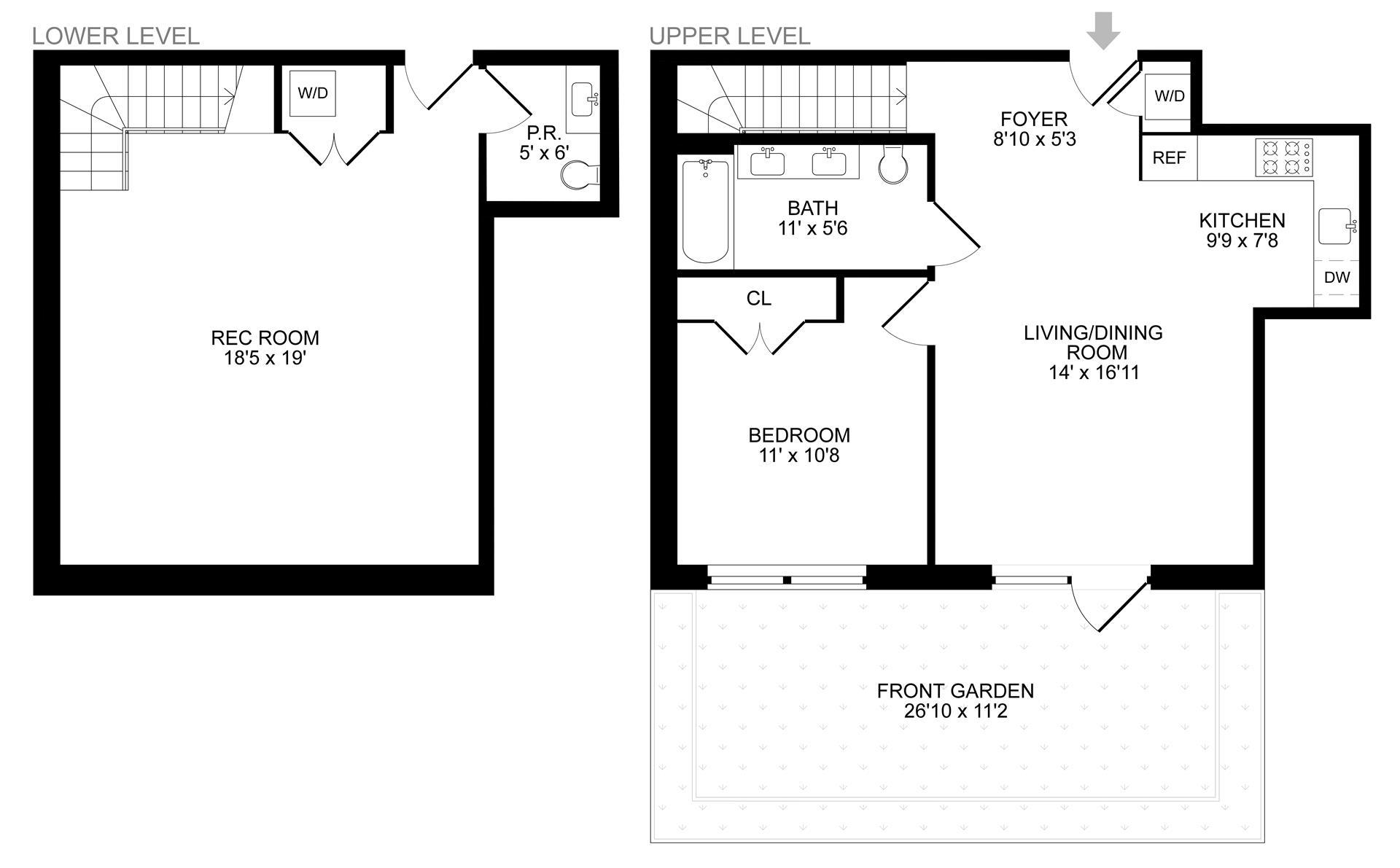 Floor plan of 299 Van Buren Street, 1A - Bedford - Stuyvesant, New York