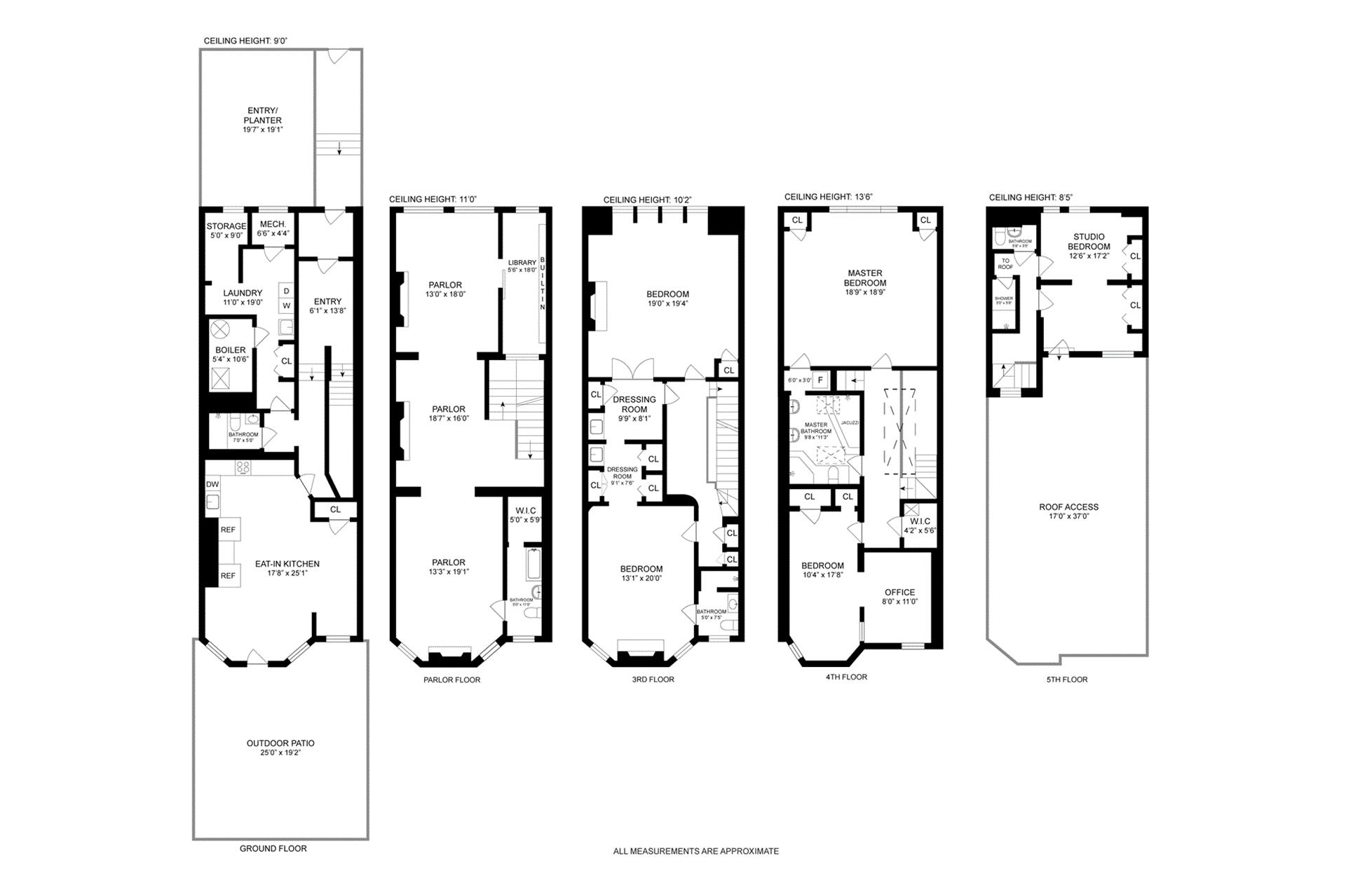 Floor plan of 325 Convent Avenue - Hamilton Heights, New York