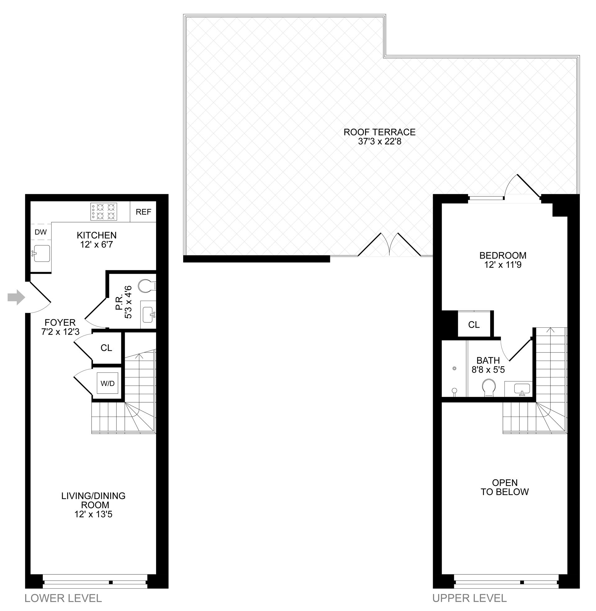 Floor plan of 299 Van Buren Street, 4C - Bedford - Stuyvesant, New York