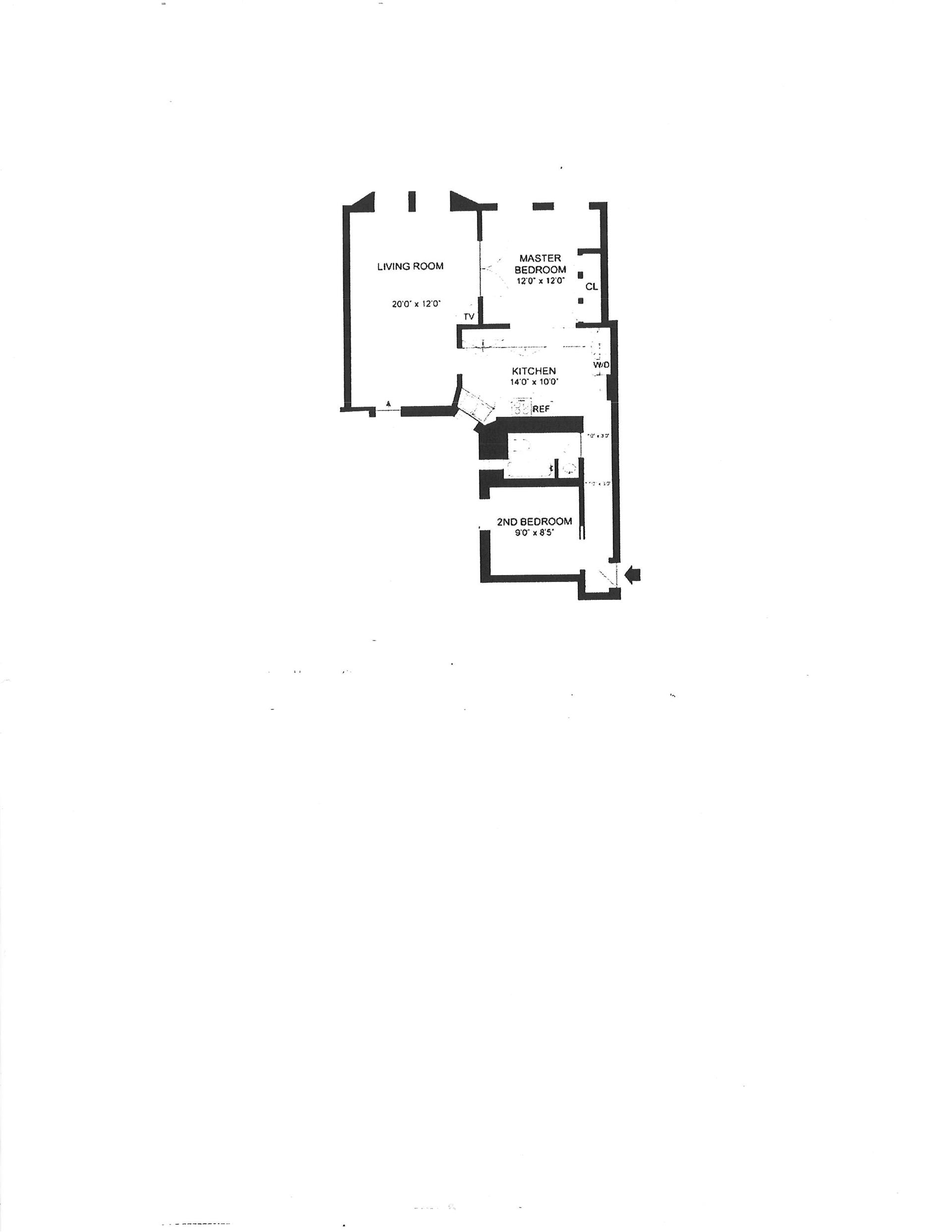 Floor plan of 125 East 4th Street, 8 - East Village, New York