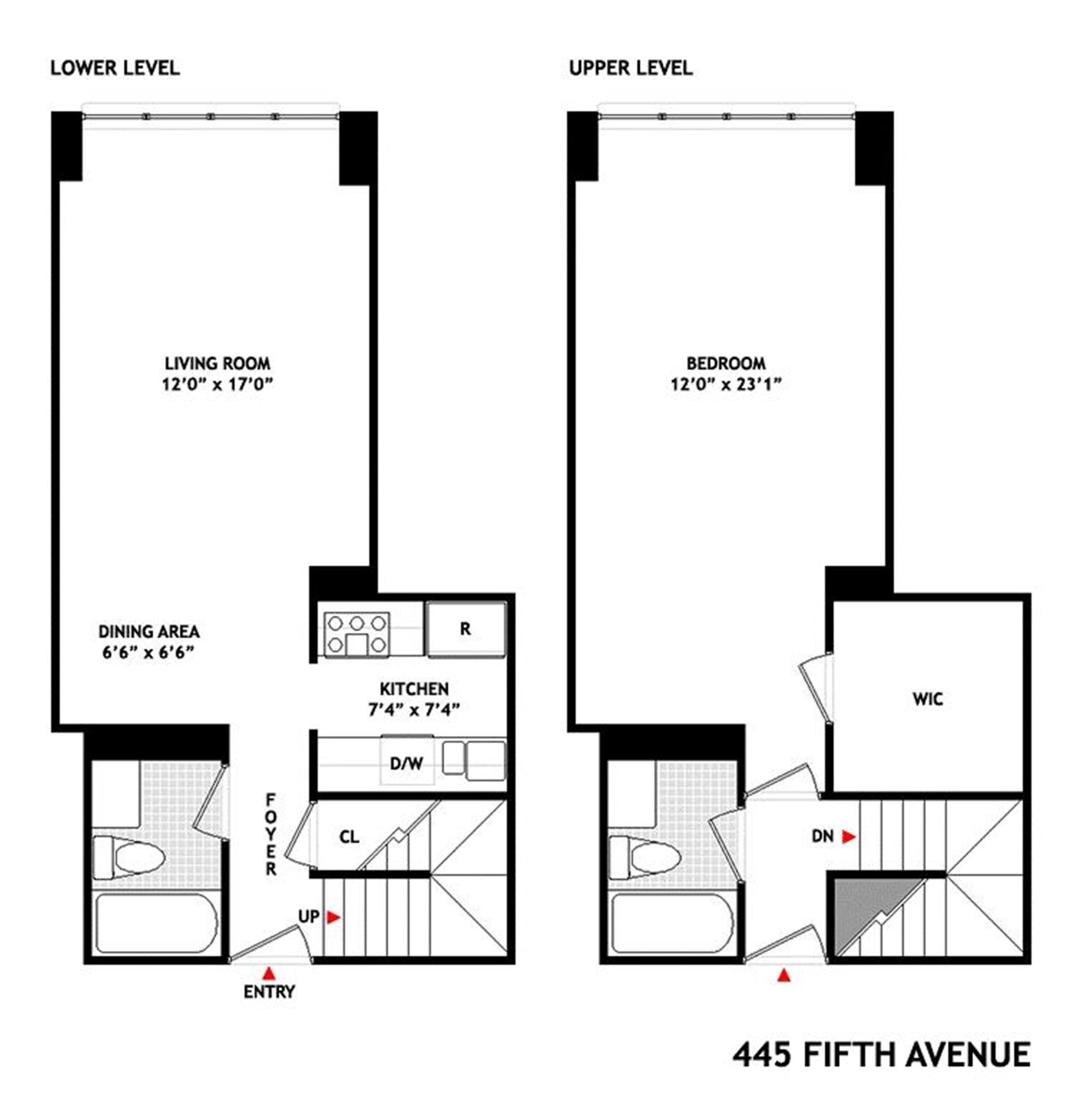 Floor plan of Fifth Avenue Tower Condominium, 445 Fifth Avenue, 31B - Murray Hill, New York