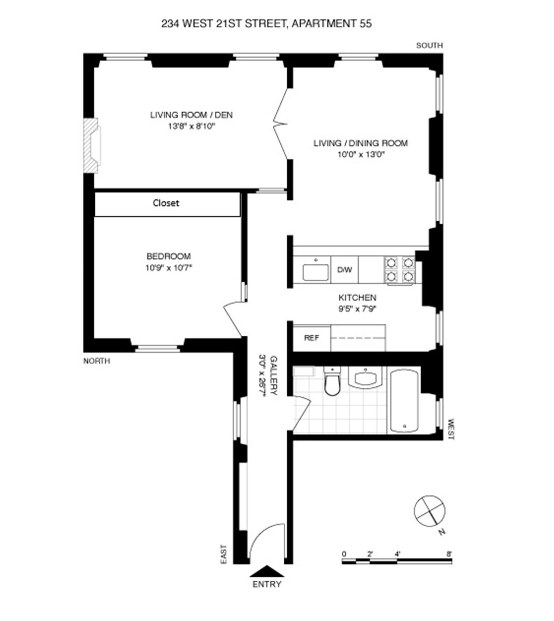Floor plan of 234 W 21 St Owners Corp., 234 West 21st Street, 55 - Chelsea, New York