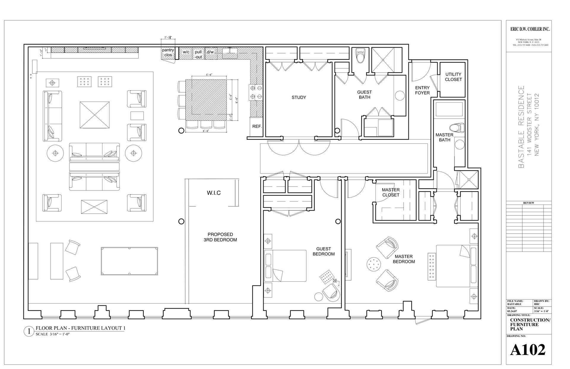 Floor plan of GOOD DEAL REALTY, 141 Wooster St, 5CD - SoHo - Nolita, New York