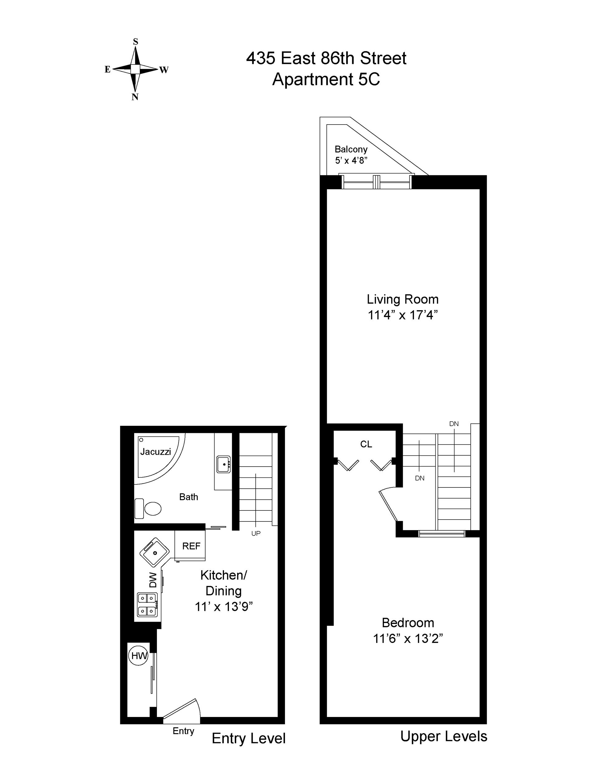 Floor plan of 435 East 86th Street, 5C - Upper East Side, New York