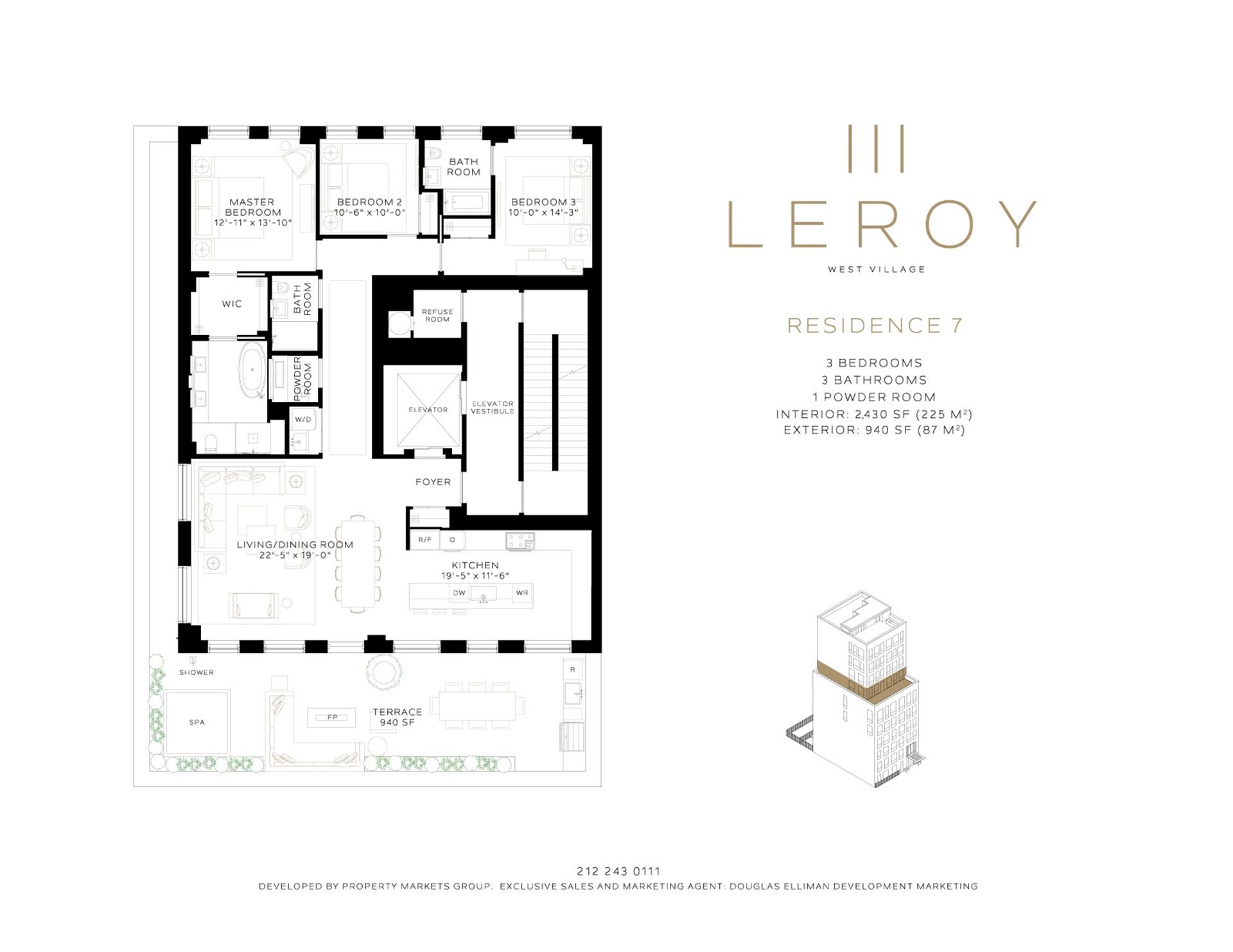 Floor plan of 111 Leroy St, 7 - West Village - Meatpacking District, New York