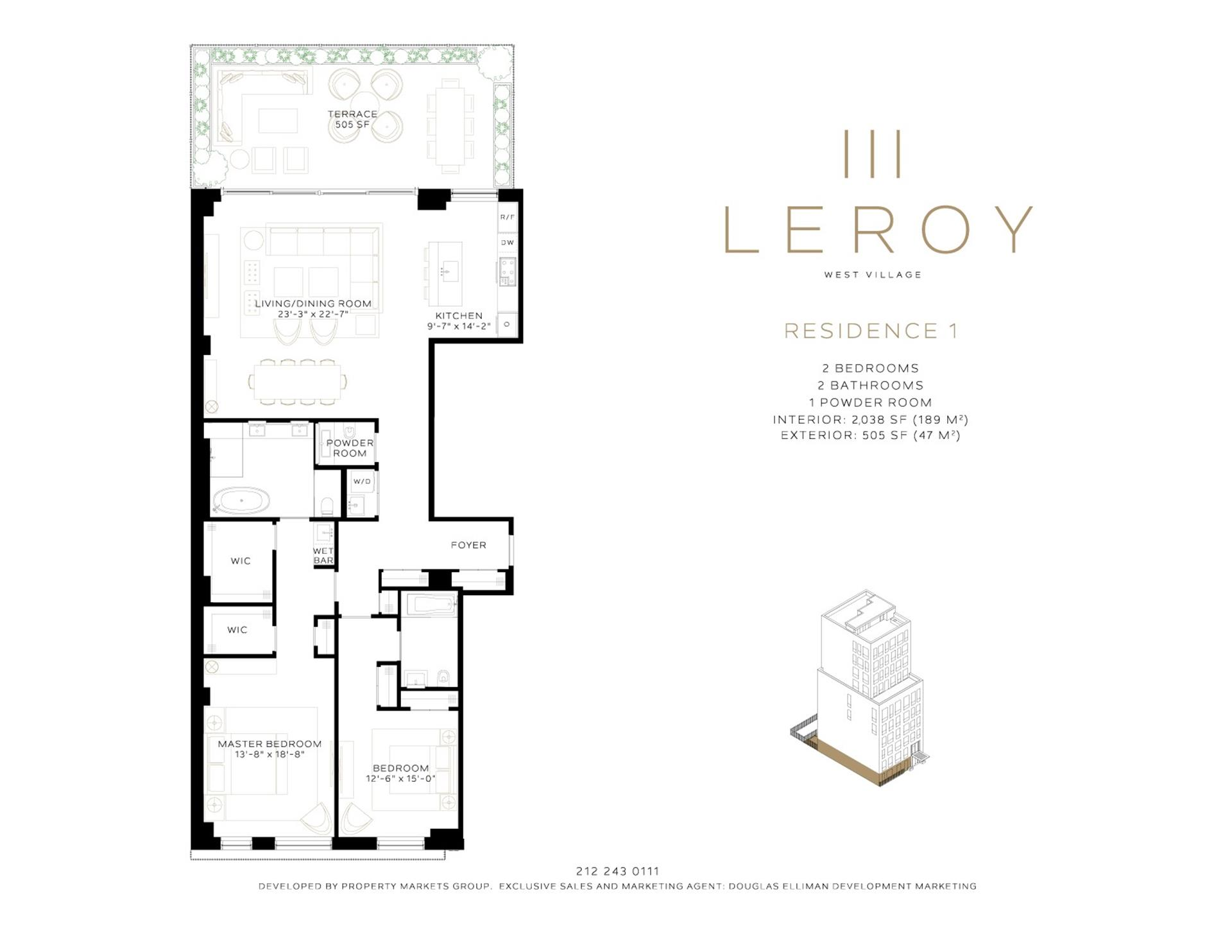 Floor plan of 111 Leroy St, 1 - West Village - Meatpacking District, New York