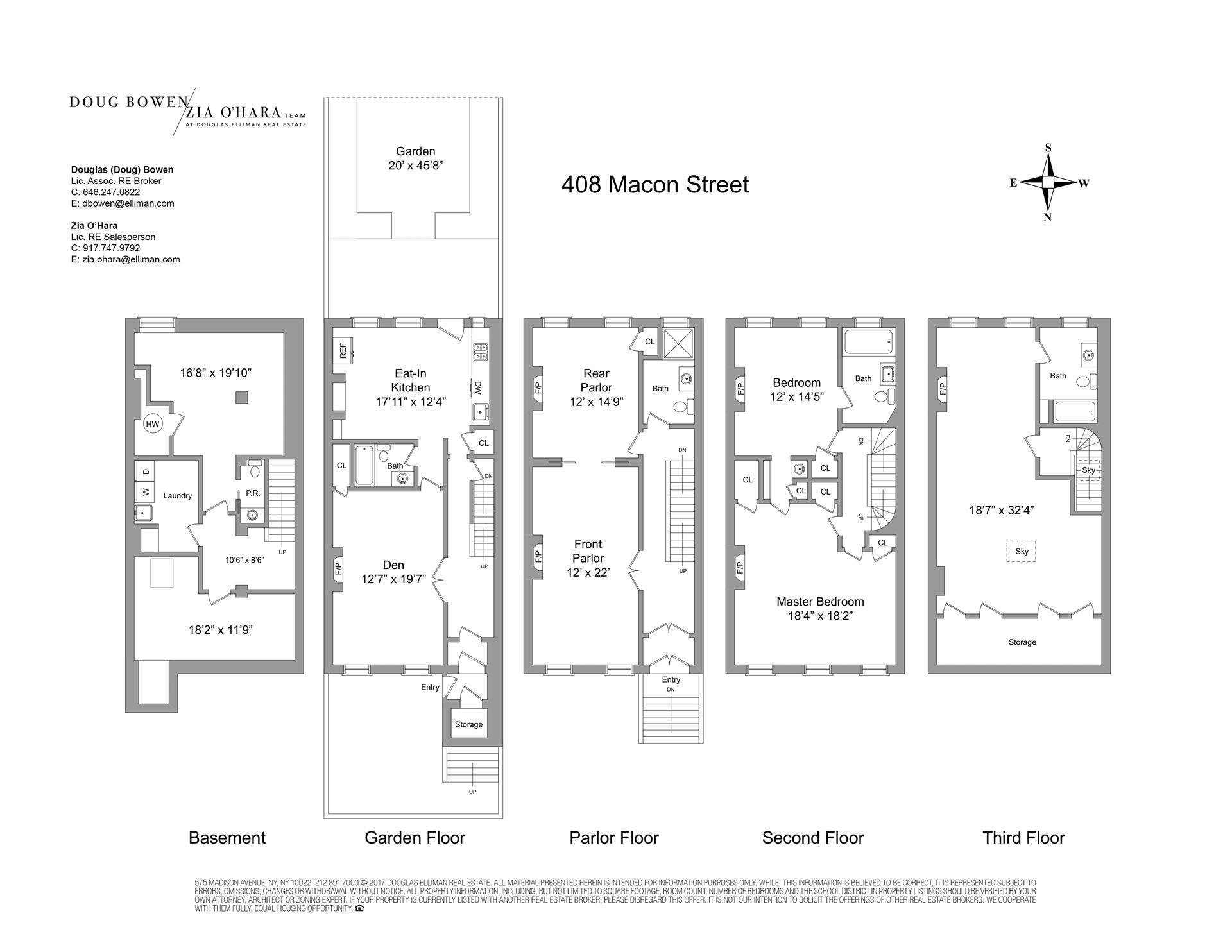 Floor plan of 408 Macon Street - Bedford - Stuyvesant, New York