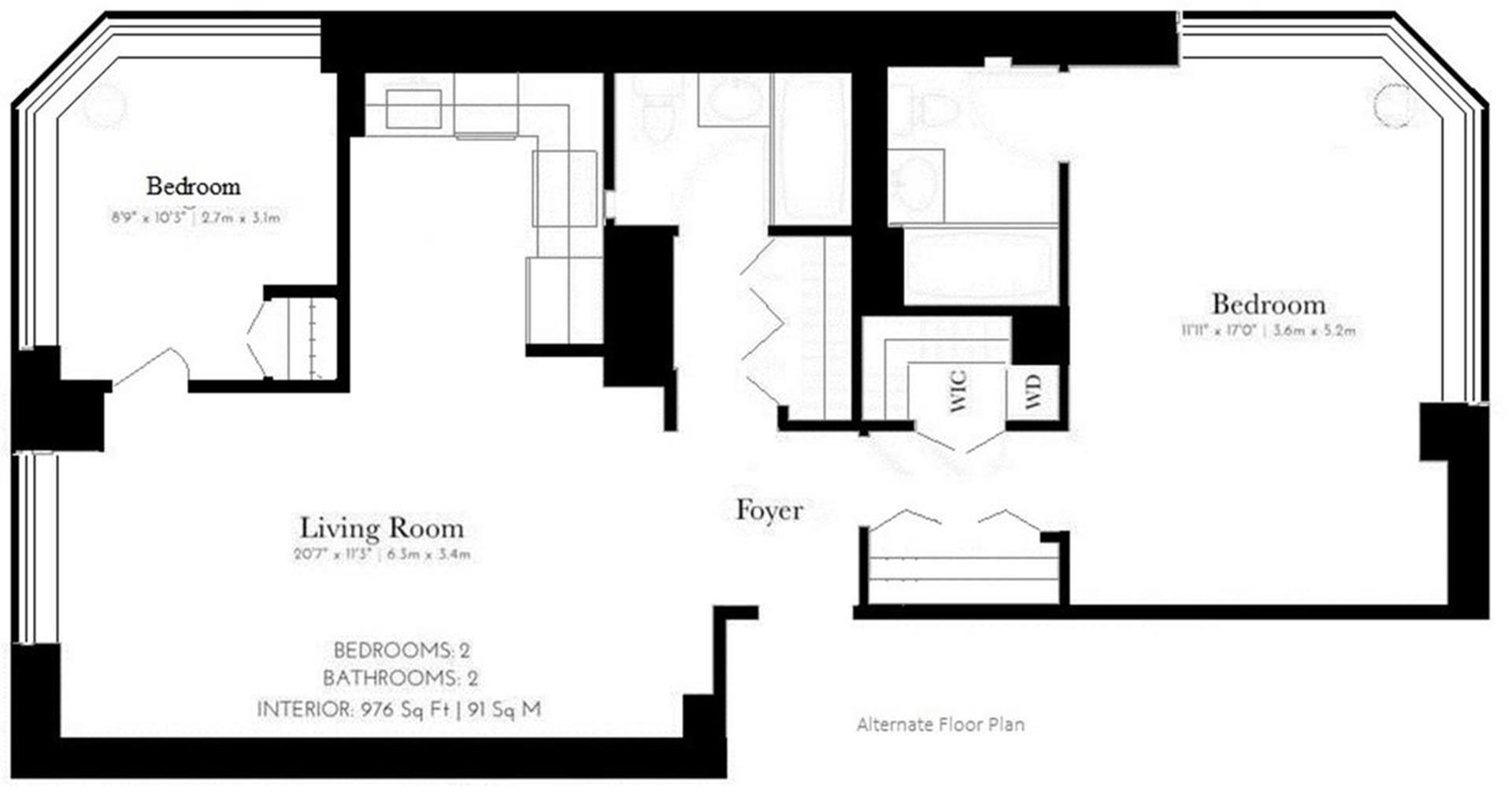 Floor plan of 300 East 64th Street, 23C - Upper East Side, New York