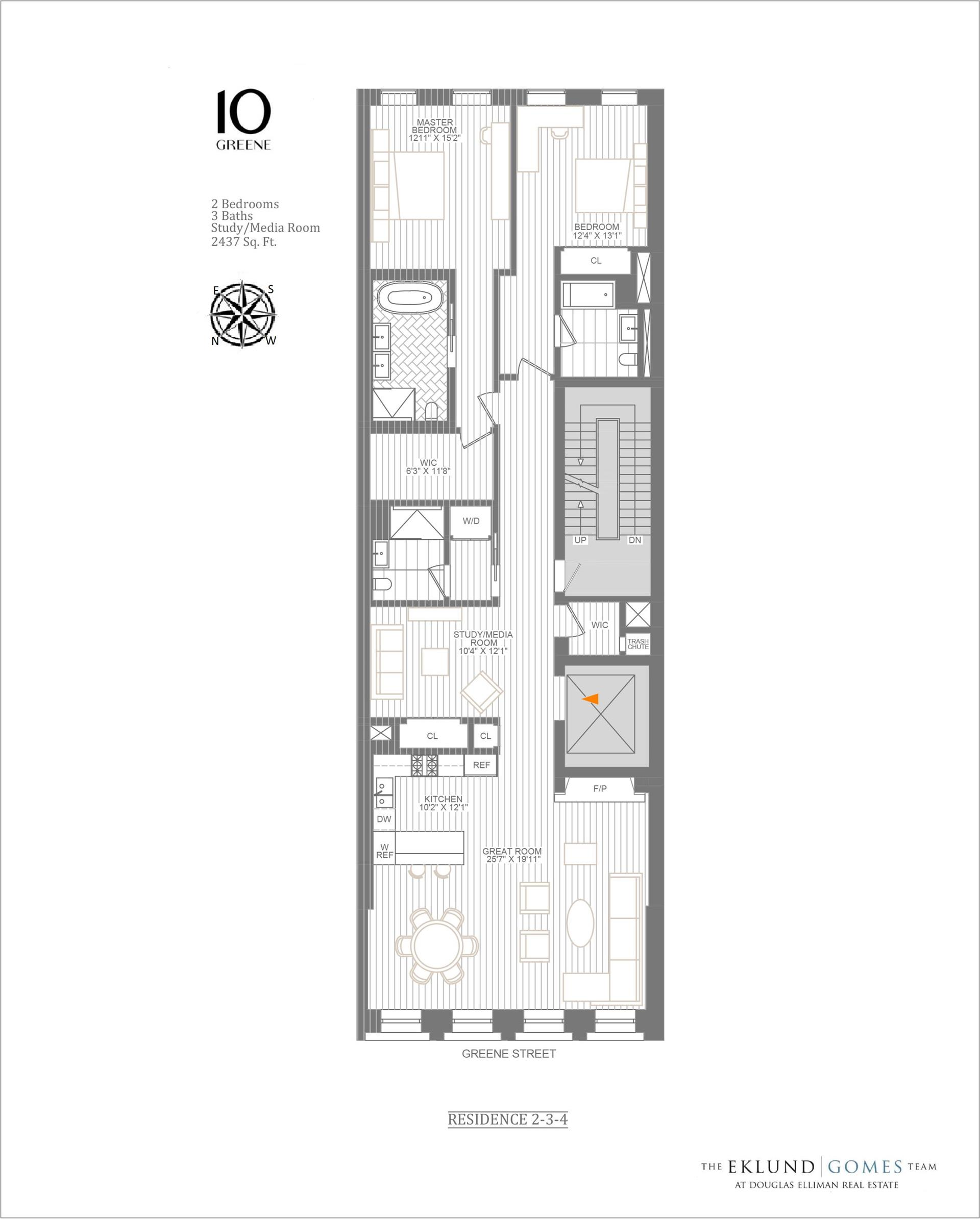Floor plan of 10 Greene St, 4 - SoHo - Nolita, New York