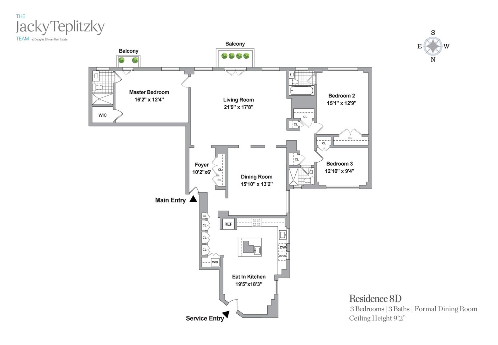 Floor plan of 430 East 57th St, 8D - Sutton Area, New York