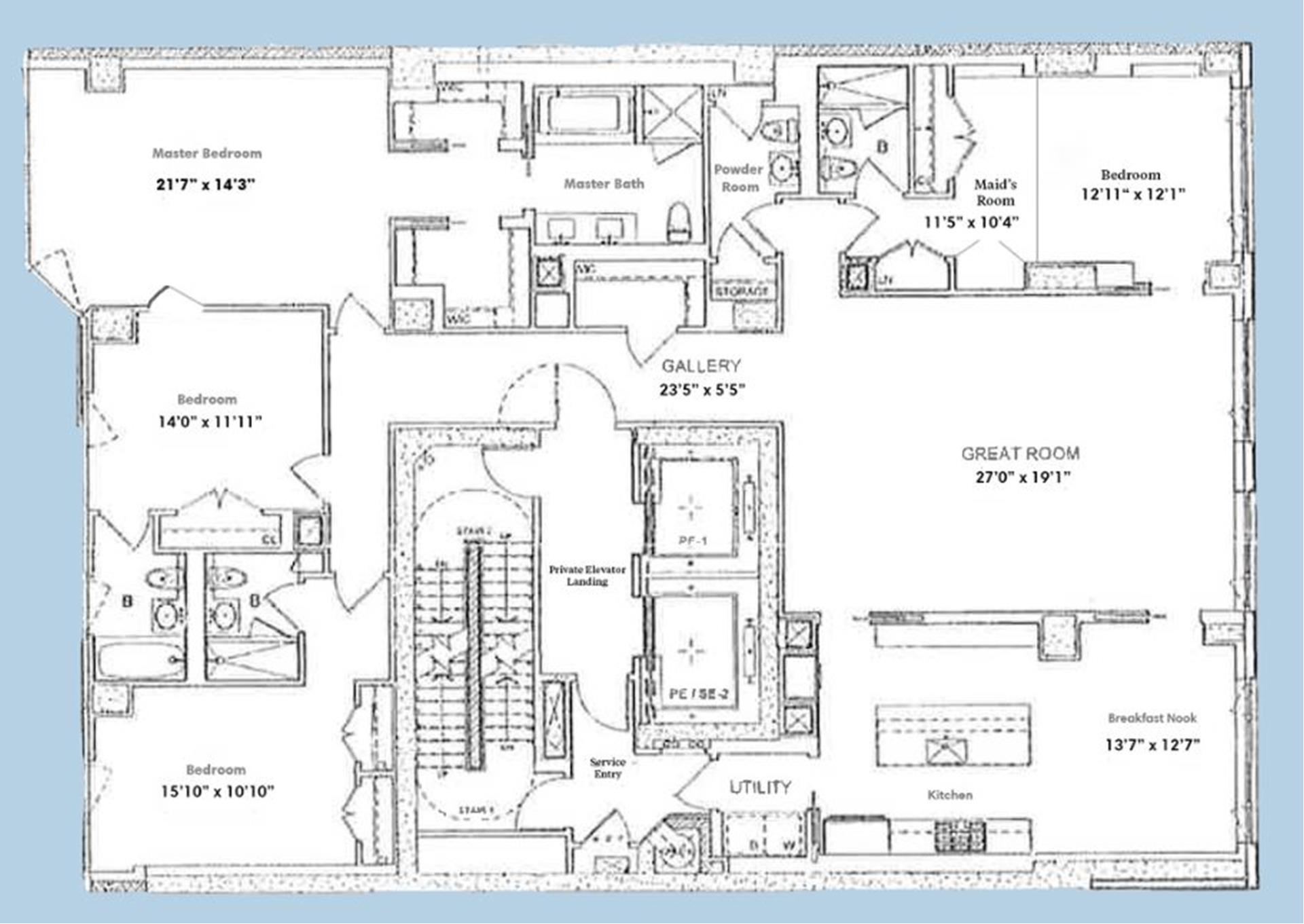 Floor plan of The Charles, 1355 First Avenue, 6FL - Upper East Side, New York