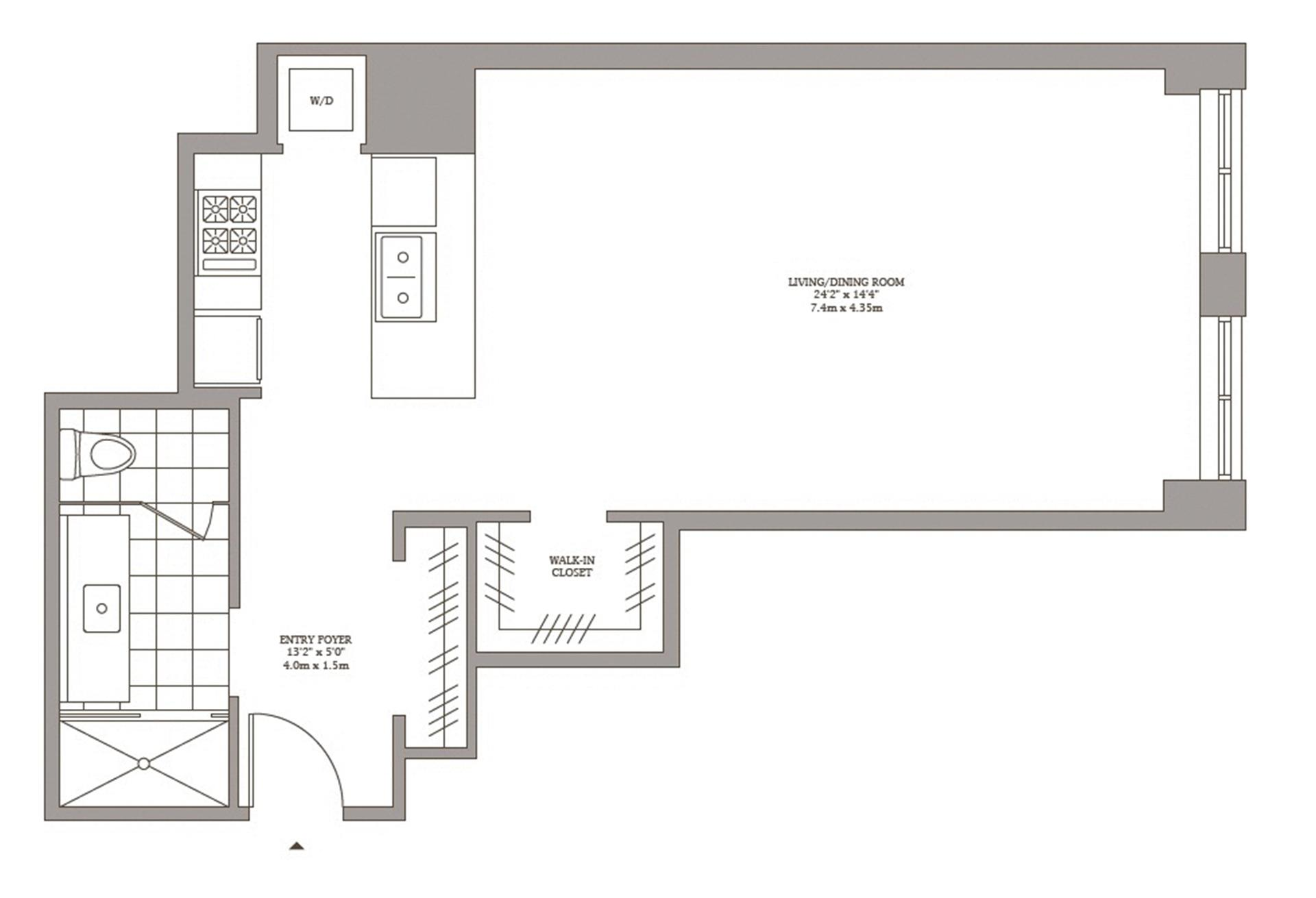 Floor plan of Superior Ink Condominiums, 400 West 12th St, 3C - West Village - Meatpacking District, New York