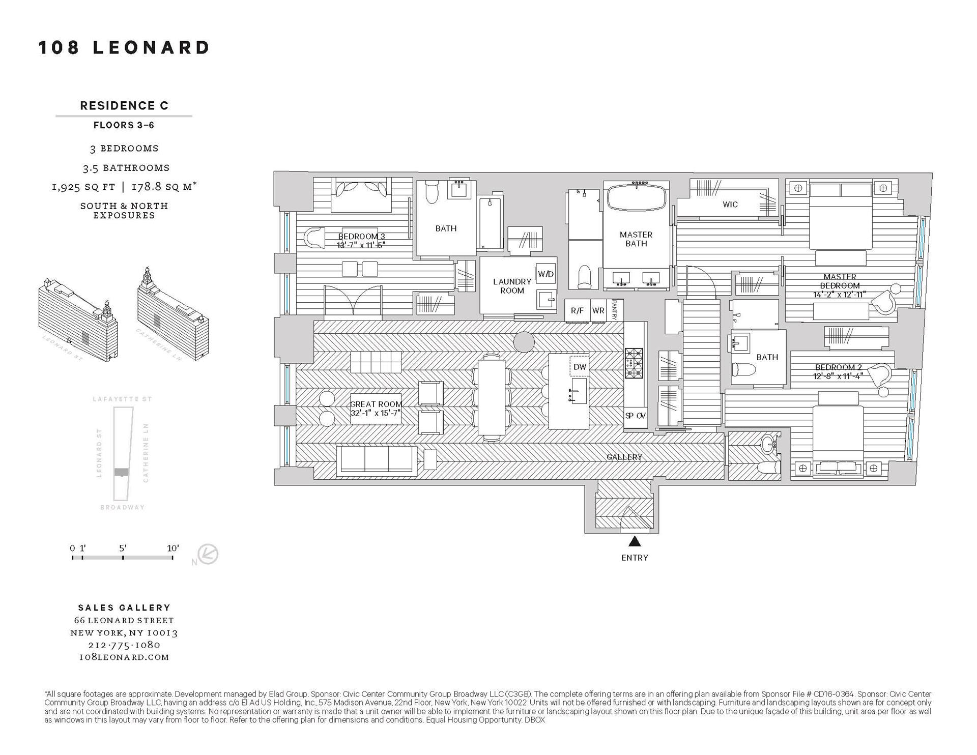 Floor plan of 108 Leonard St, 5C - TriBeCa, New York