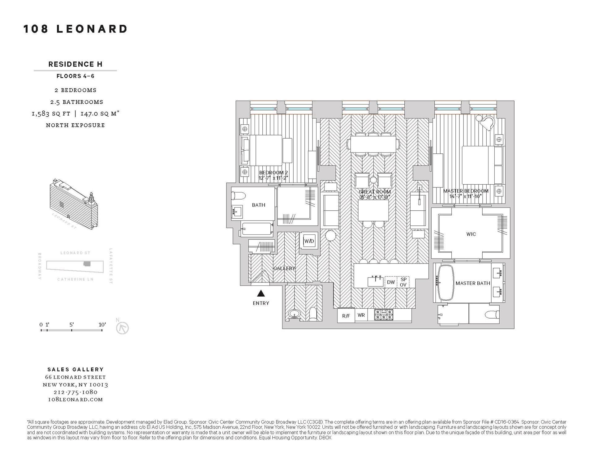 Floor plan of 108 Leonard Street, 6H - TriBeCa, New York