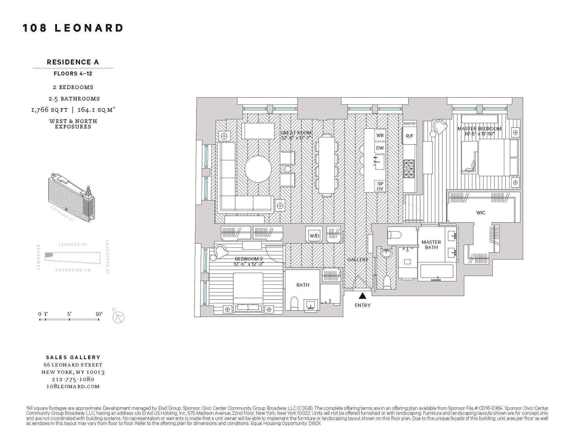 Floor plan of 108 Leonard Street, 10A - TriBeCa, New York