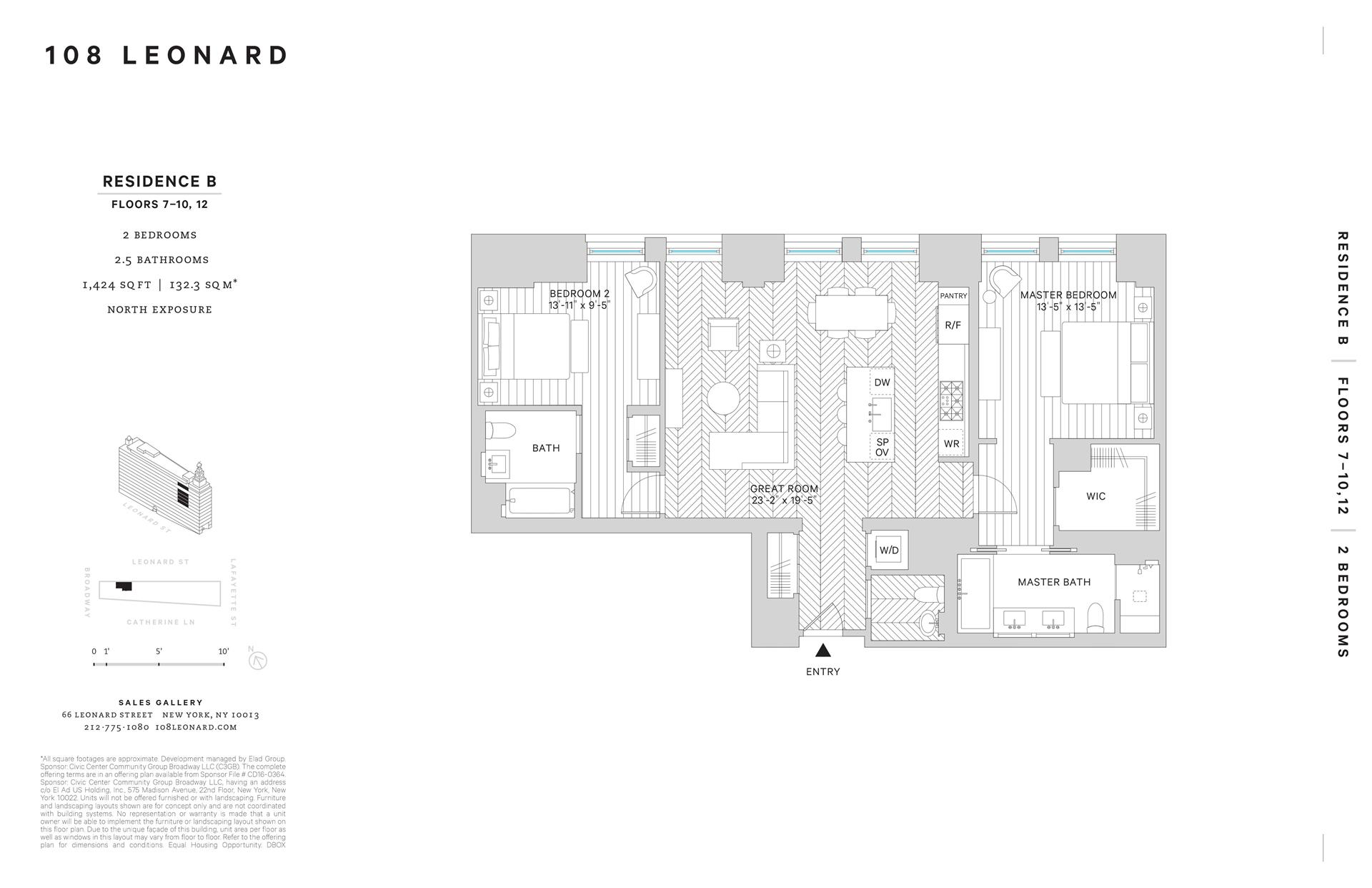 Floor plan of 108 Leonard Street, 7B - TriBeCa, New York