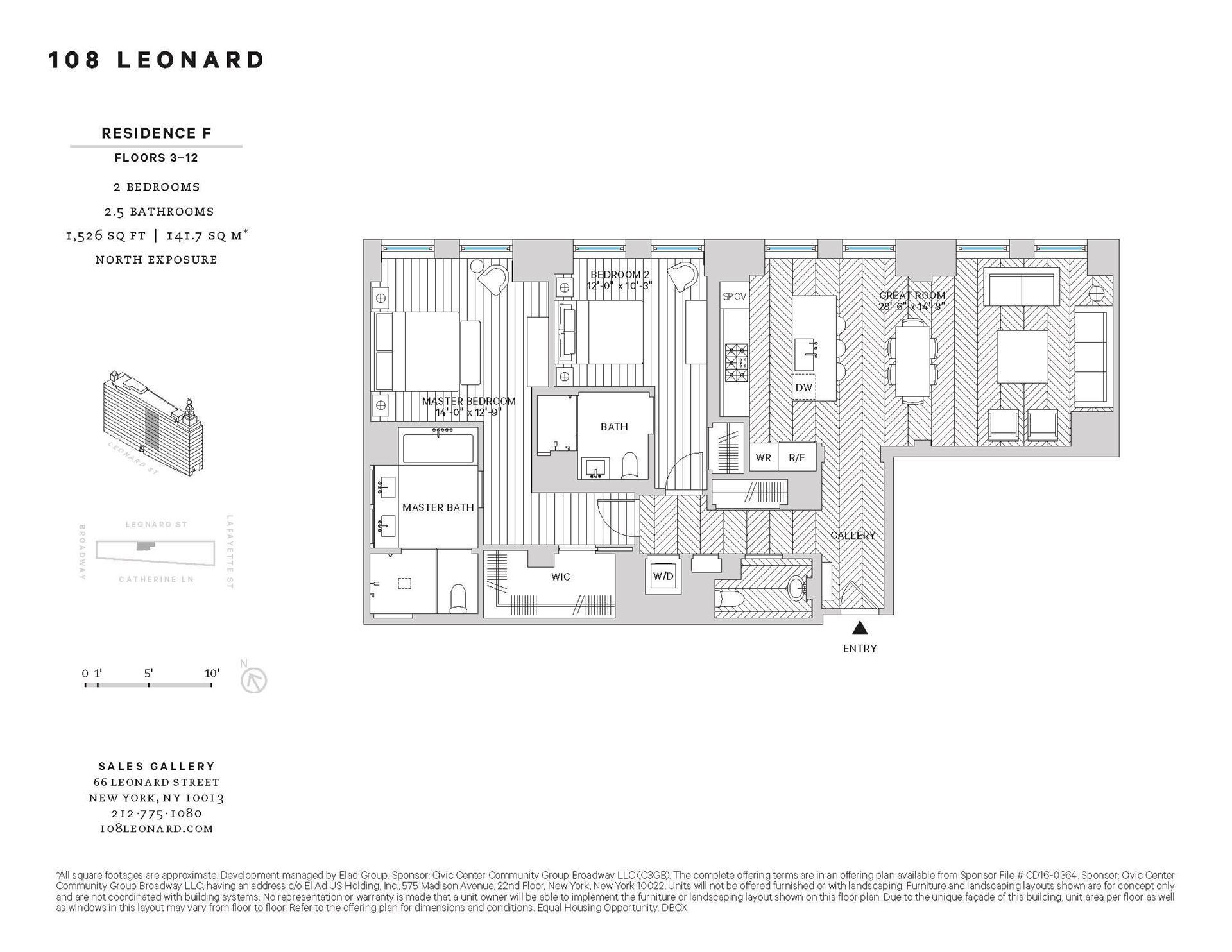 Floor plan of 108 Leonard Street, 9F - TriBeCa, New York