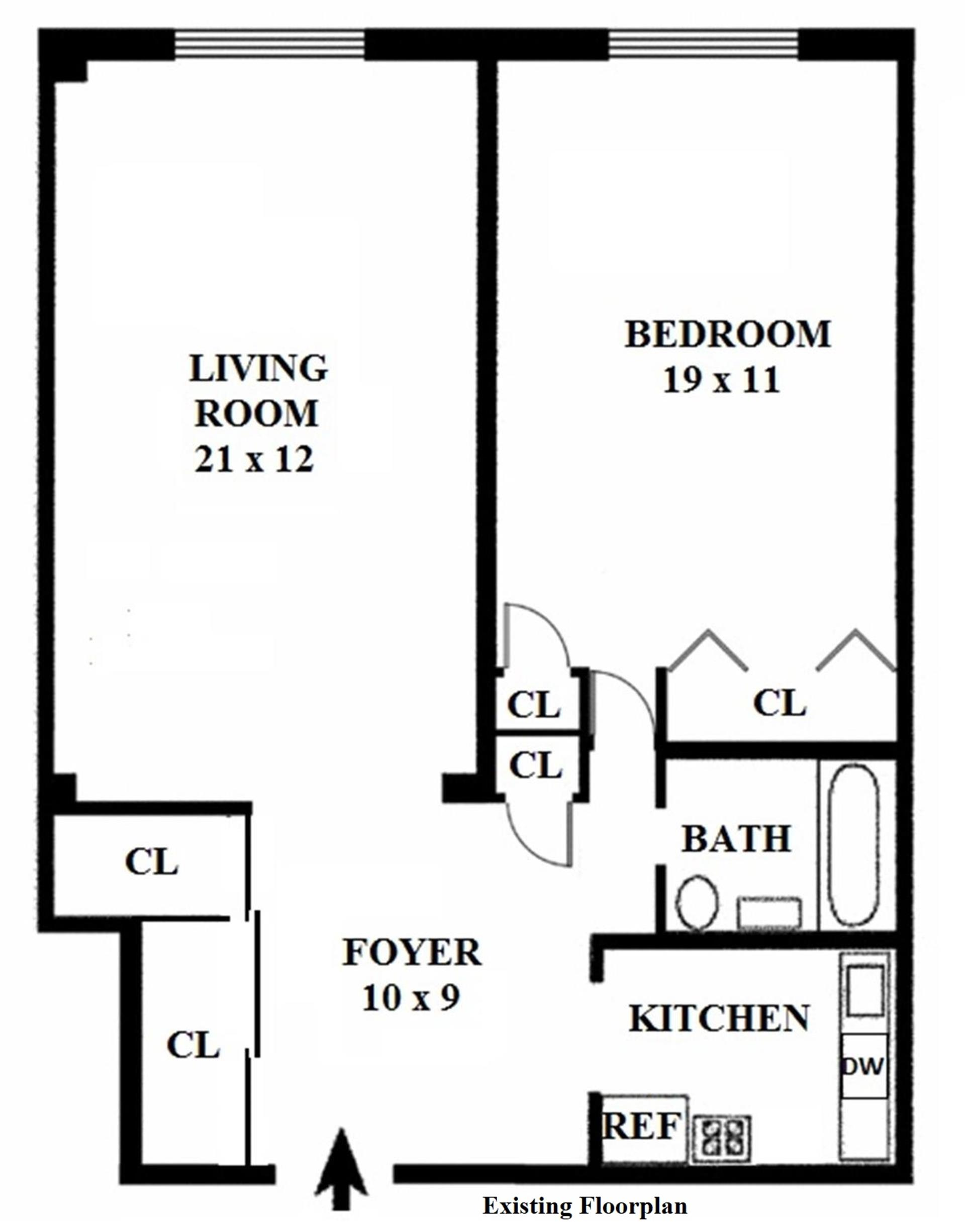 Floor plan of NORVILLE HOUSE, 13 West 13th Street, 6AS - Greenwich Village, New York