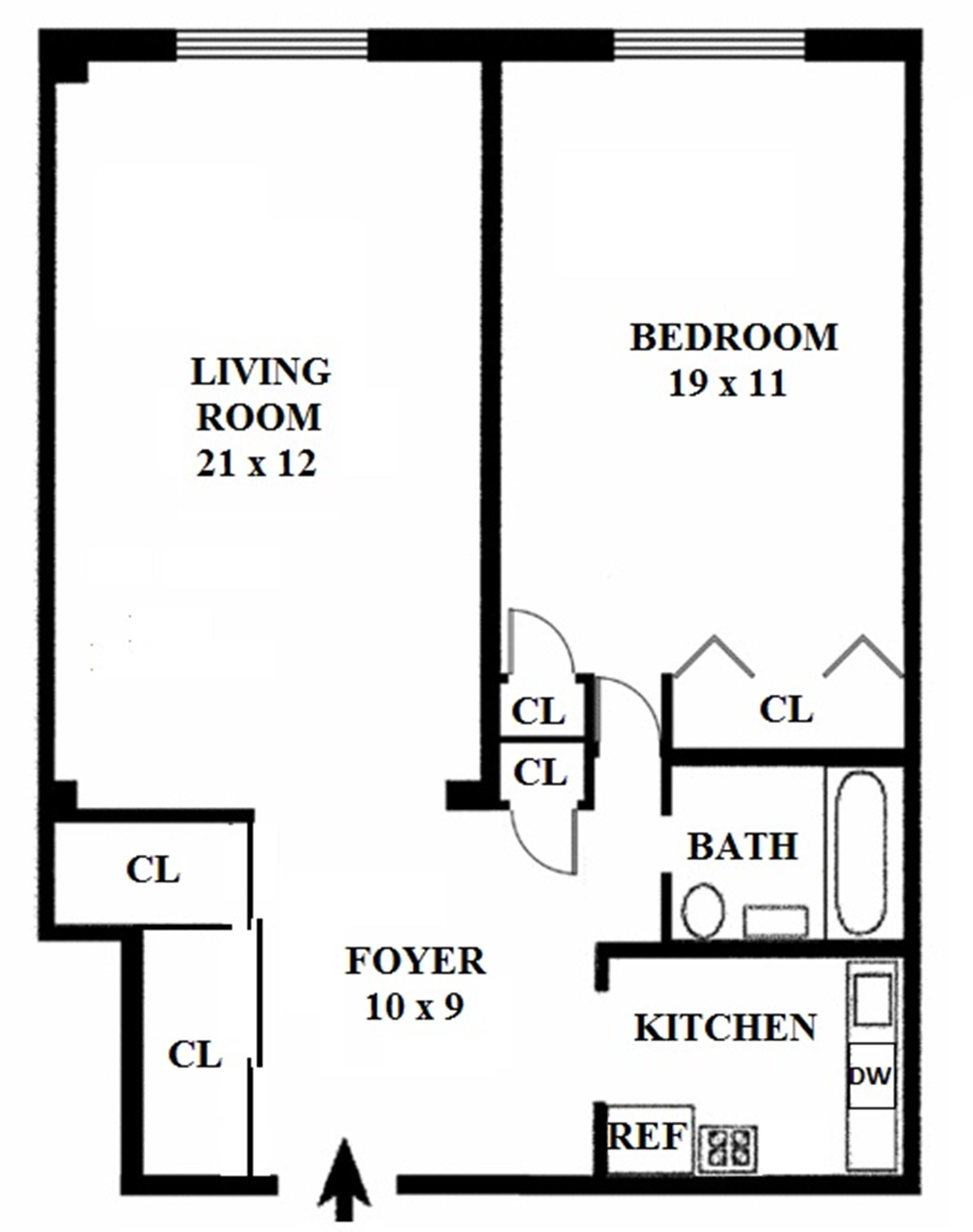 Floor plan of NORVILLE HOUSE, 13 West 13th St, 6AS - Greenwich Village, New York