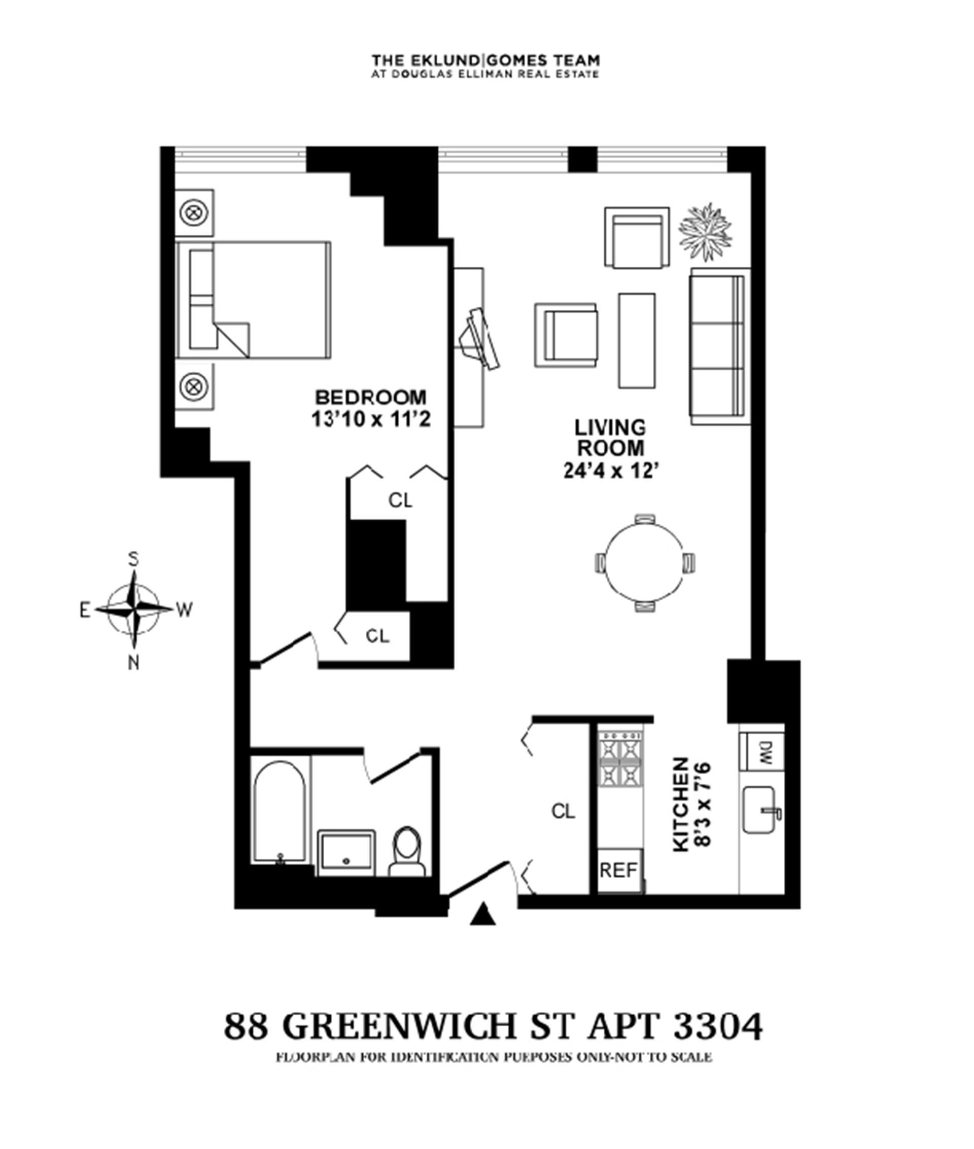 Floor plan of Greenwich Club Residence, 88 Greenwich Street, 3304 - Financial District, New York