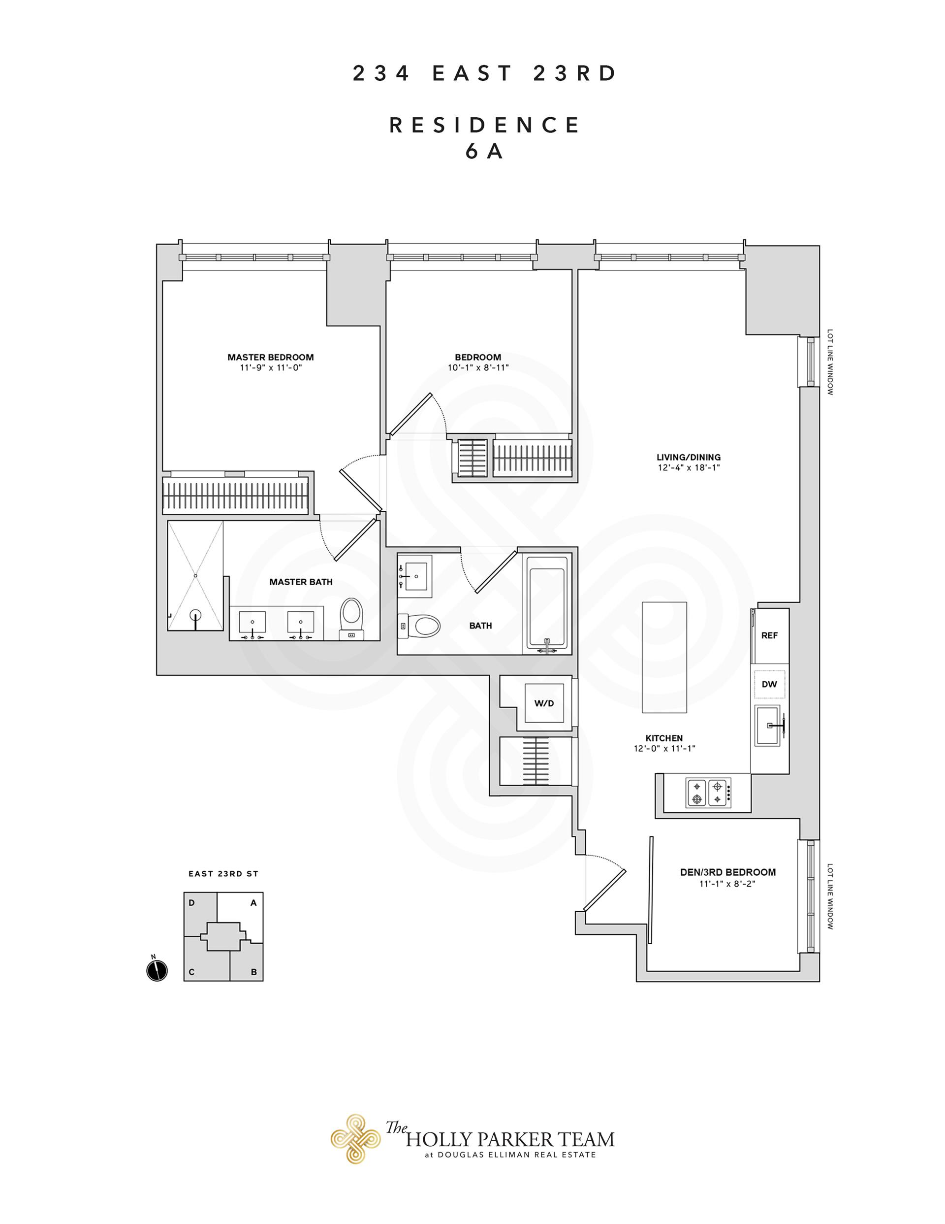 Floor plan of 234 East 23rd St, 6A - Gramercy - Union Square, New York