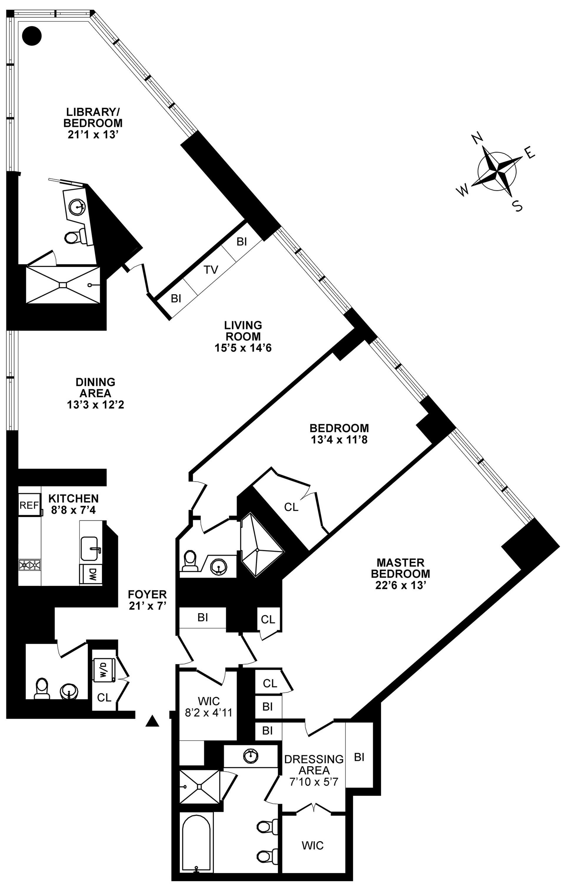 Floor plan of METROPOLITAN TOWER, 146 West 57th Street, 67A - Midtown, New York