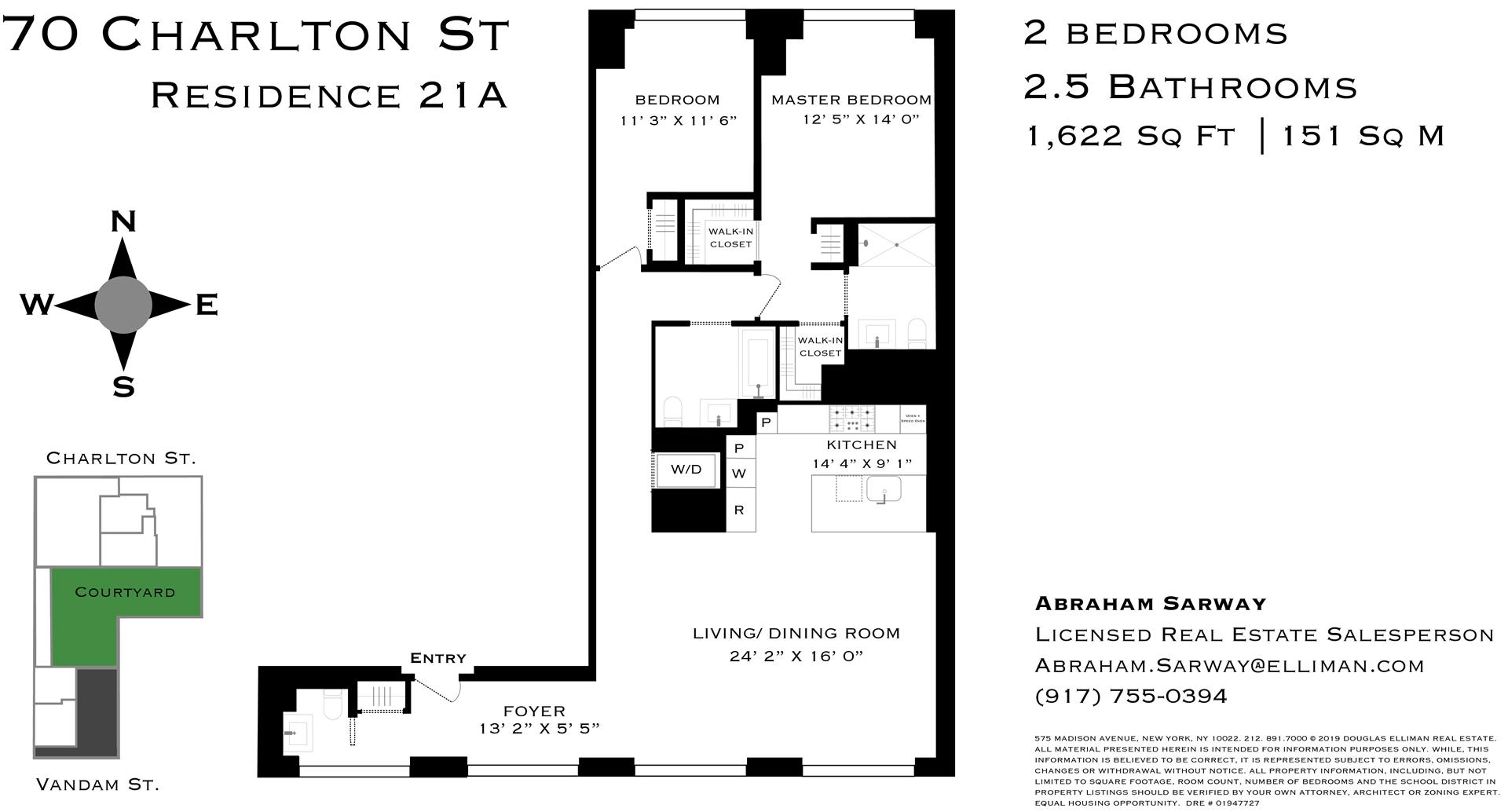 Floor plan of 70 Charlton Street, 21A - SoHo - Nolita, New York