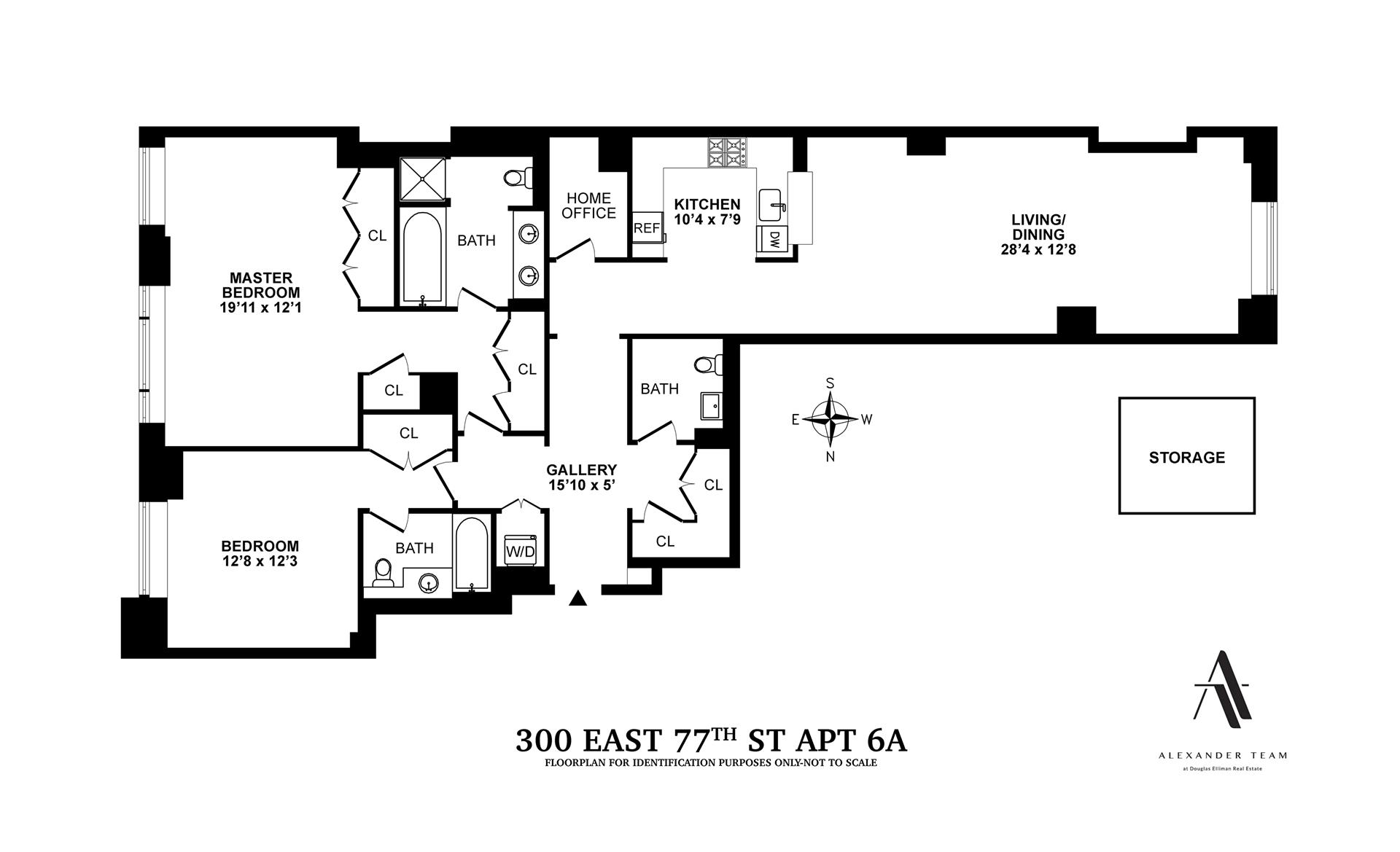 Floor plan of THE SEVILLE, 300 East 77th Street, 6A - Upper East Side, New York
