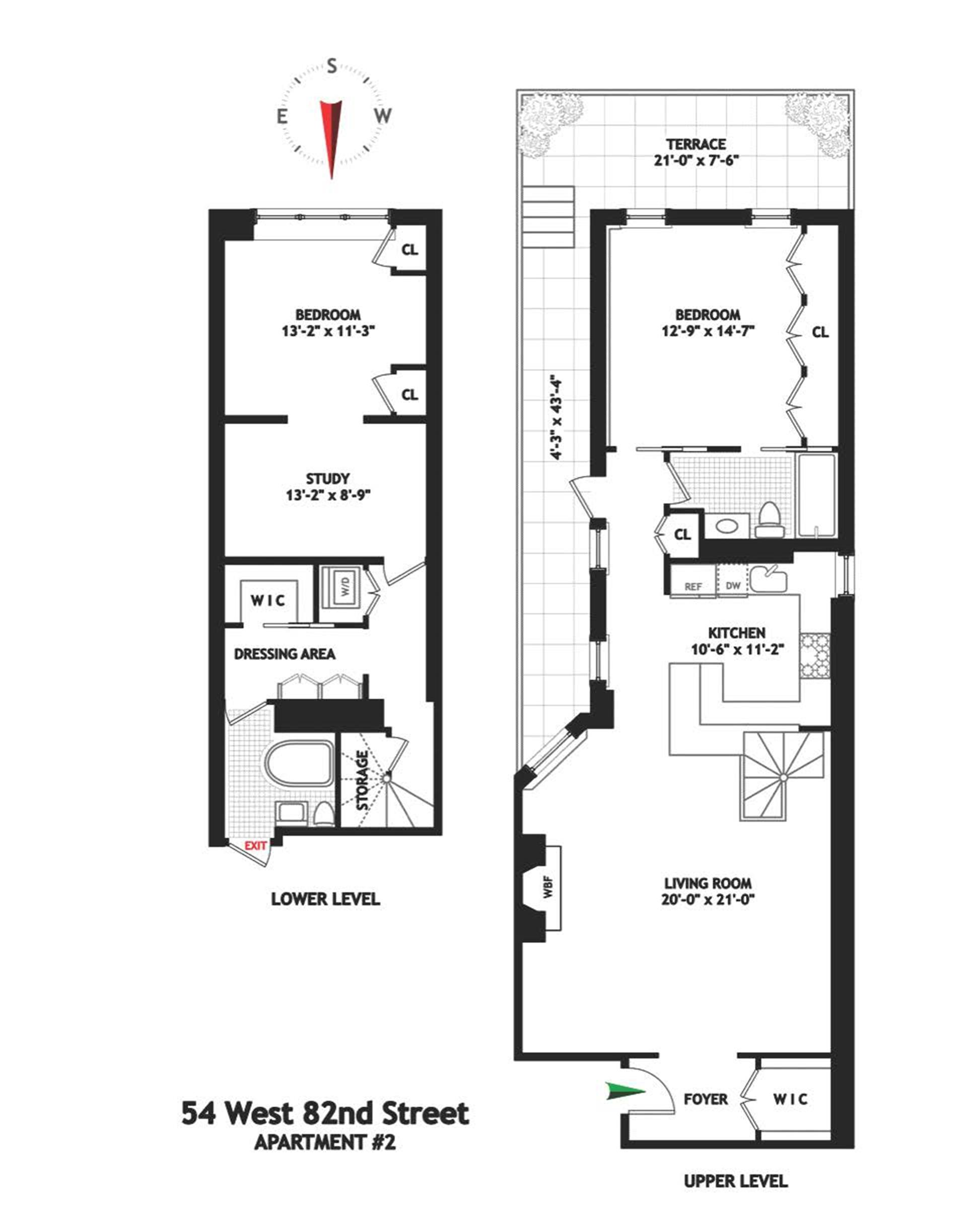 Floor plan of 54 West 82nd Street, 2 - Upper West Side, New York