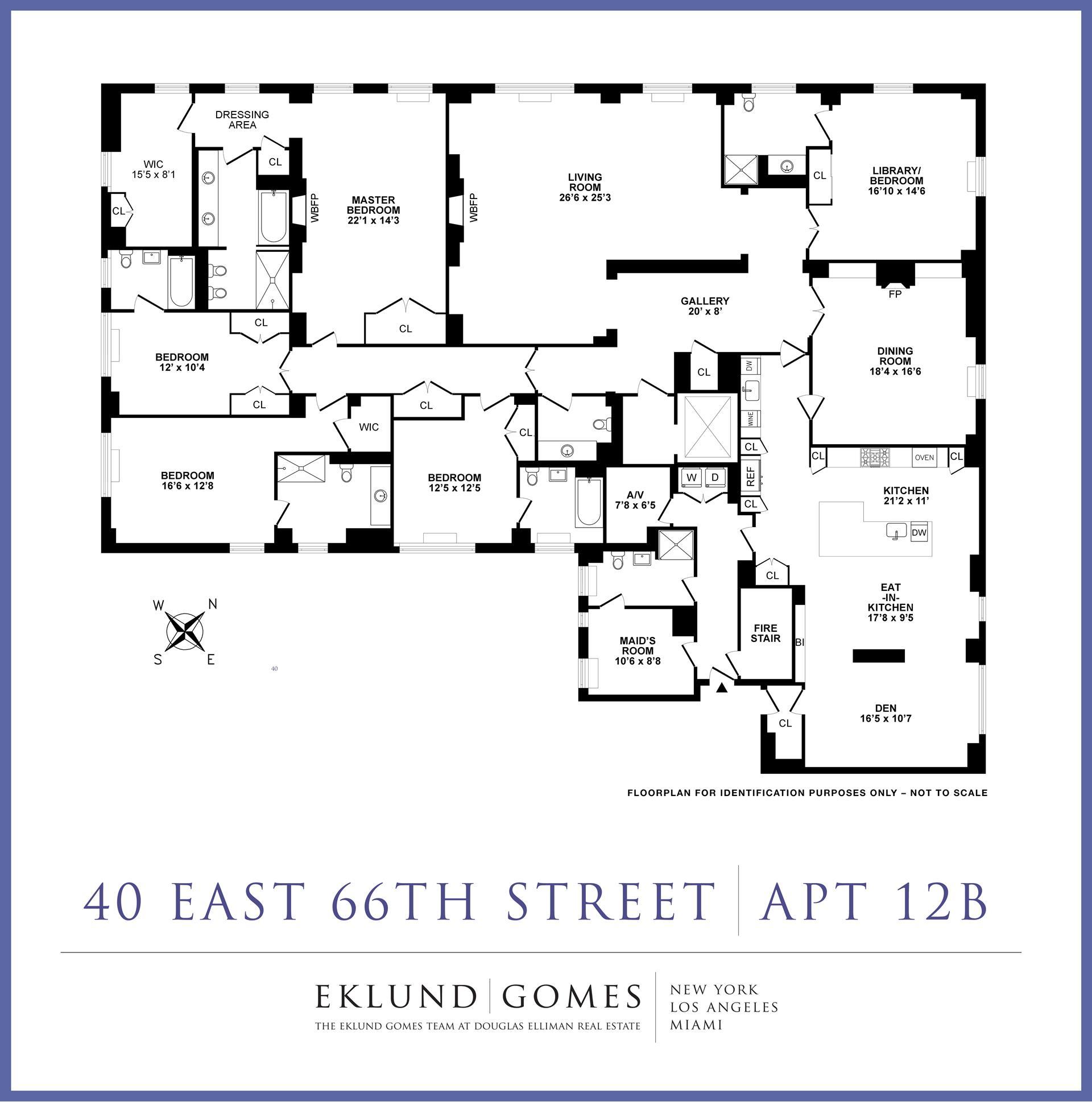 Floor plan of 40 East 66th St, 12B - Upper East Side, New York