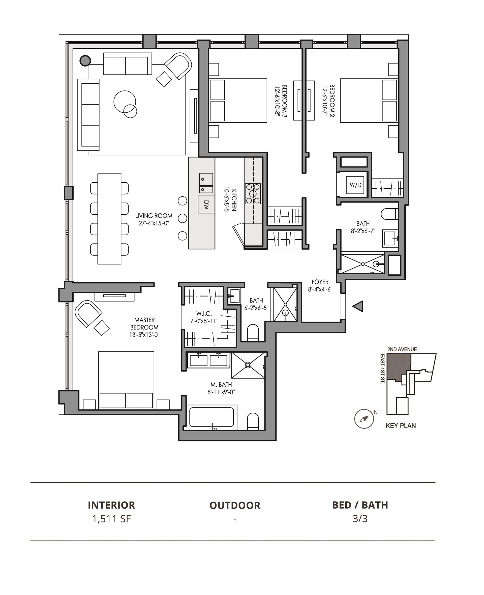 Floor plan of 32 East 1st St, 4C - East Village, New York