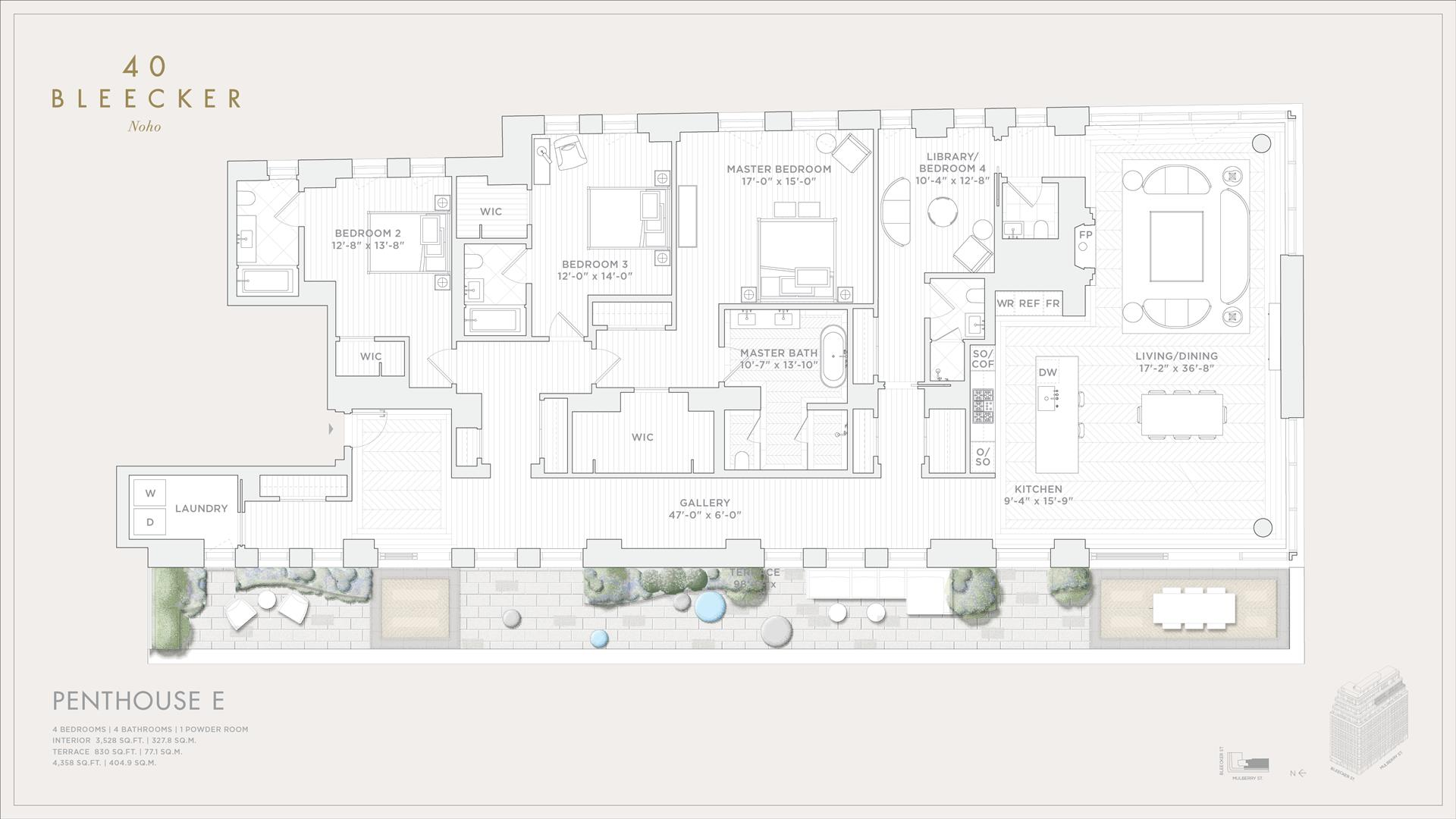 Floor plan of 40 Bleecker St, PHE - NoHo, New York