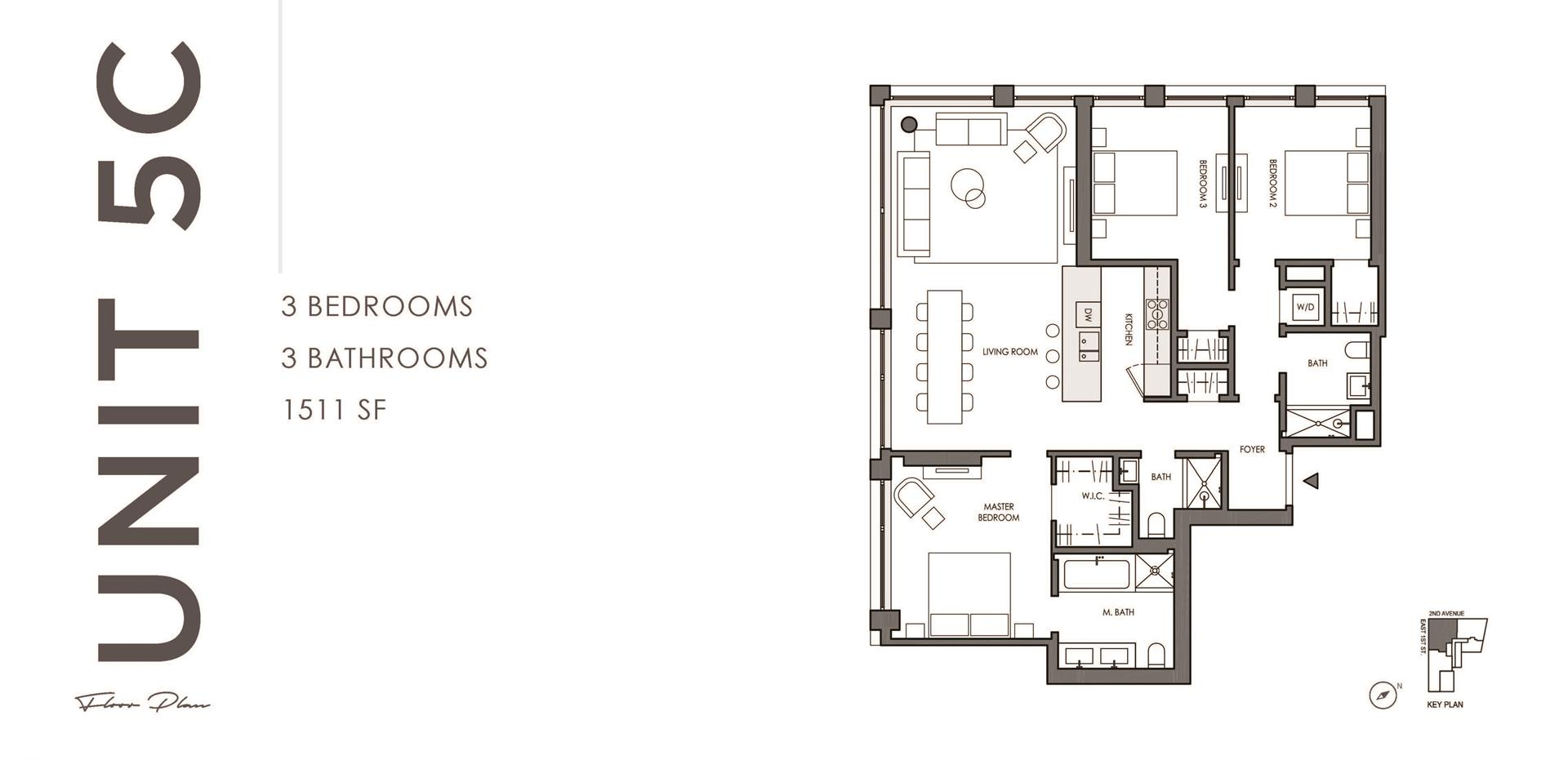 Floor plan of 32 East 1st Street, 5C - East Village, New York