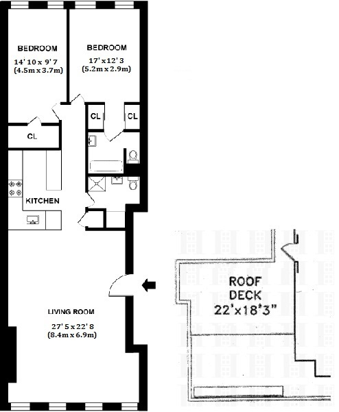 Floor plan of 150 Chambers Street, PH5E