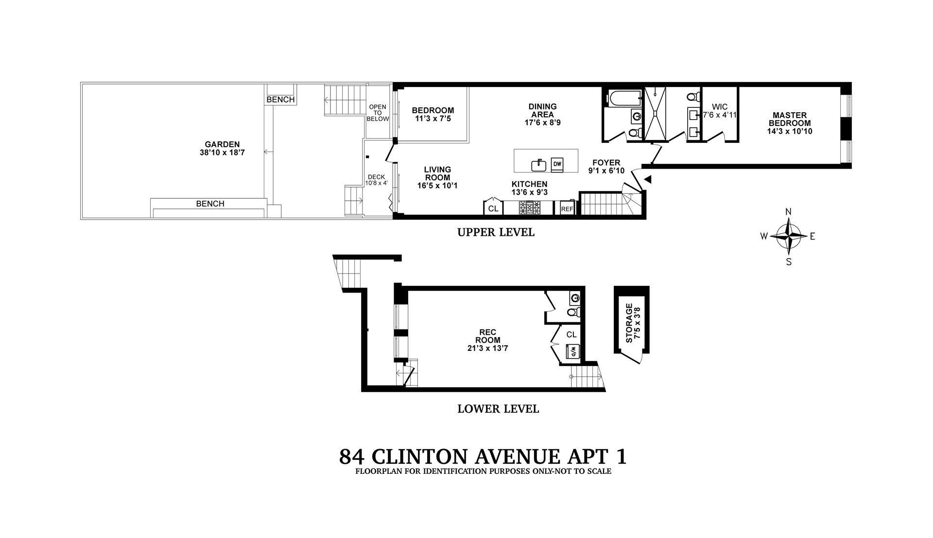 Floor plan of 84 Clinton Avenue, 1 - Clinton Hill, New York