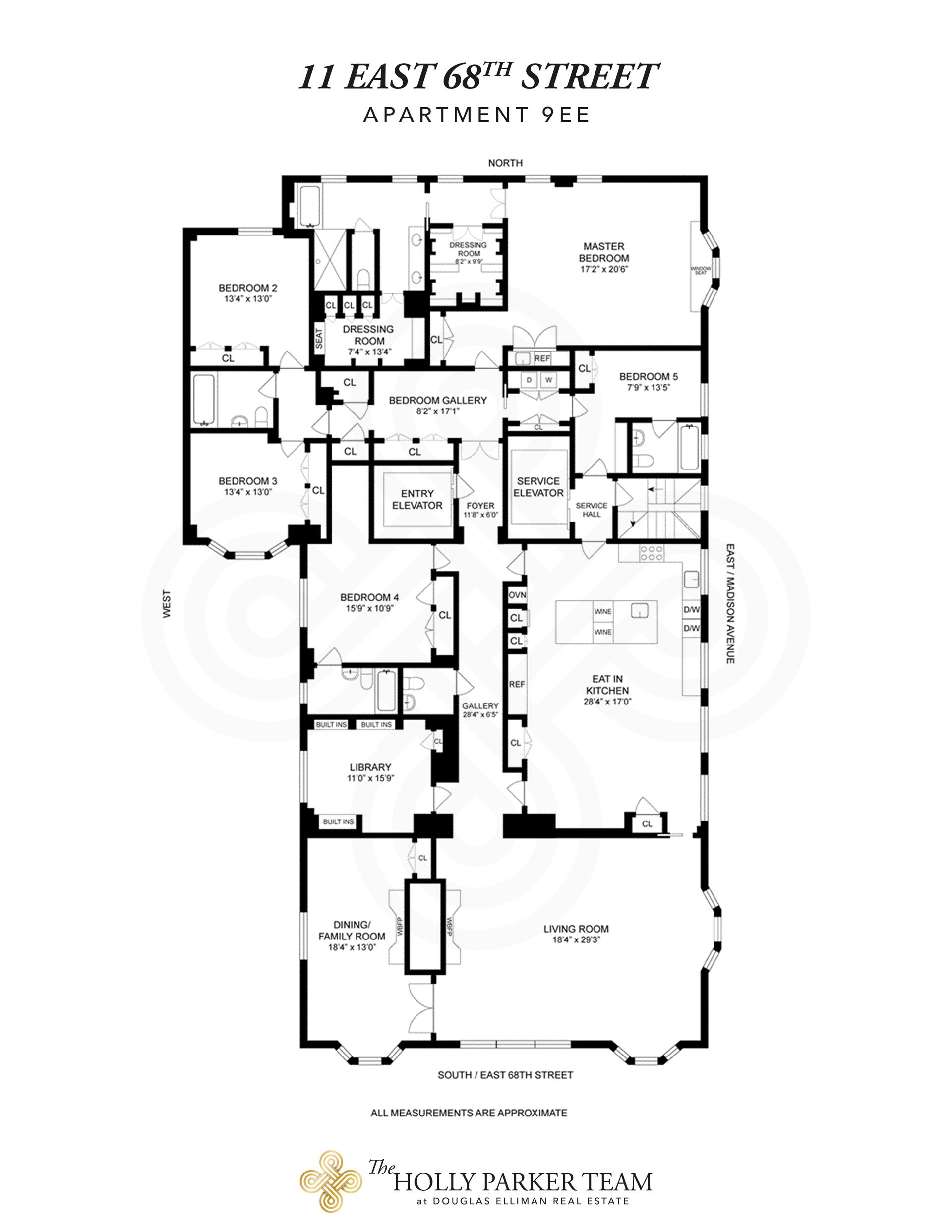 Floor plan of The Marquand, 11 East 68th St, 9EAST - Upper East Side, New York
