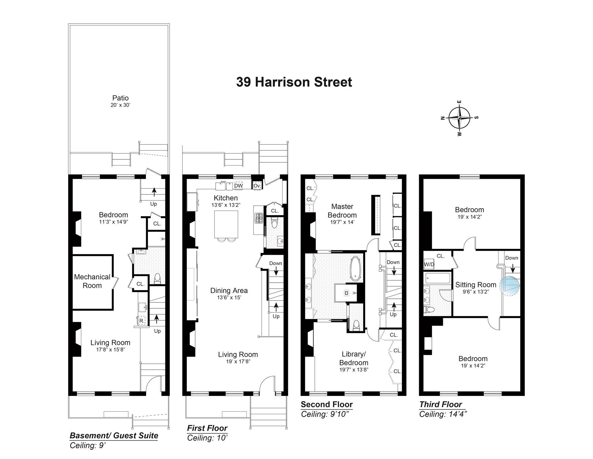 Floor plan of 39 Harrison Street - TriBeCa, New York