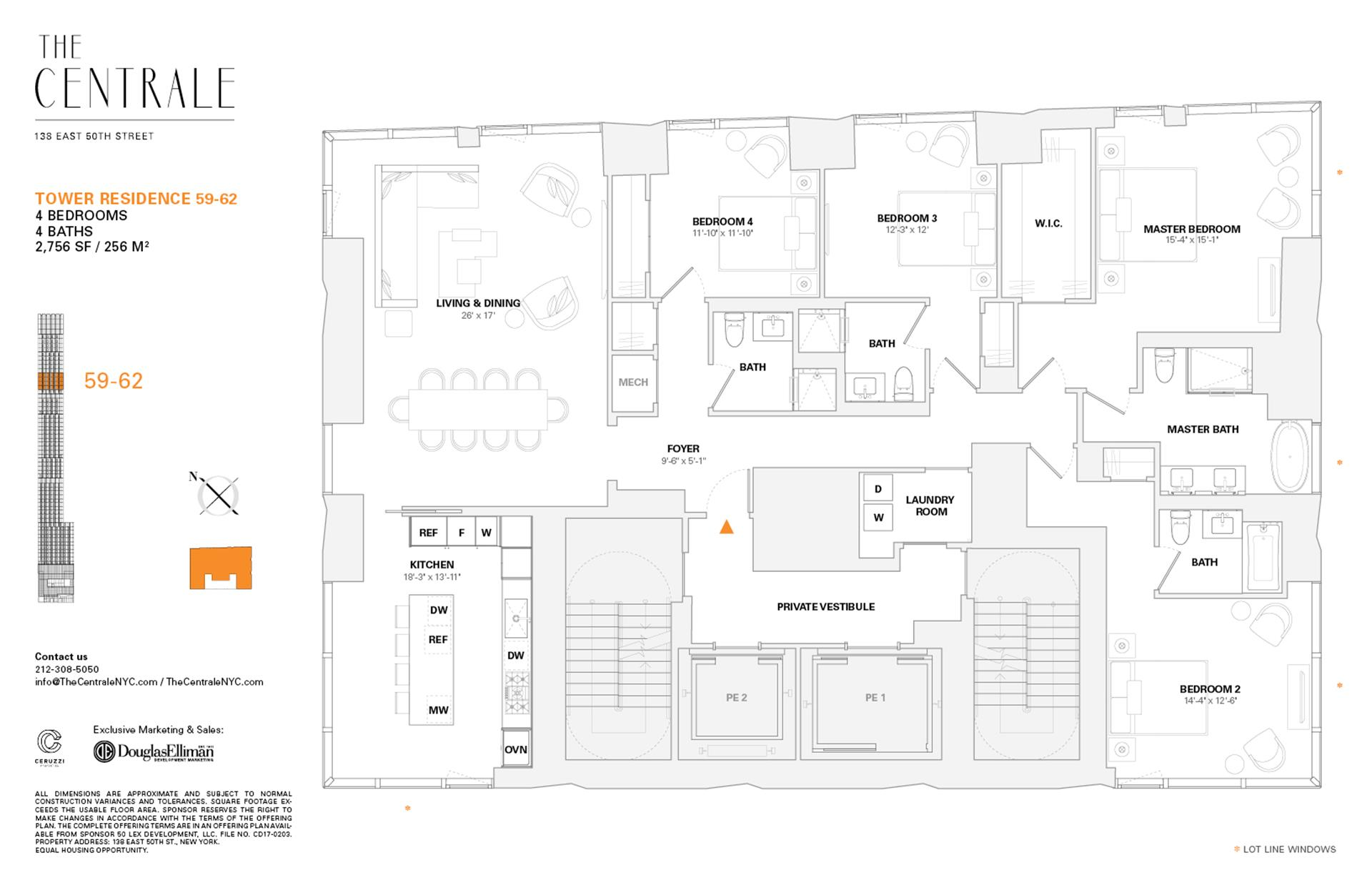 Floor plan of The Centrale, 138 East 50th St, TR59 - Midtown, New York